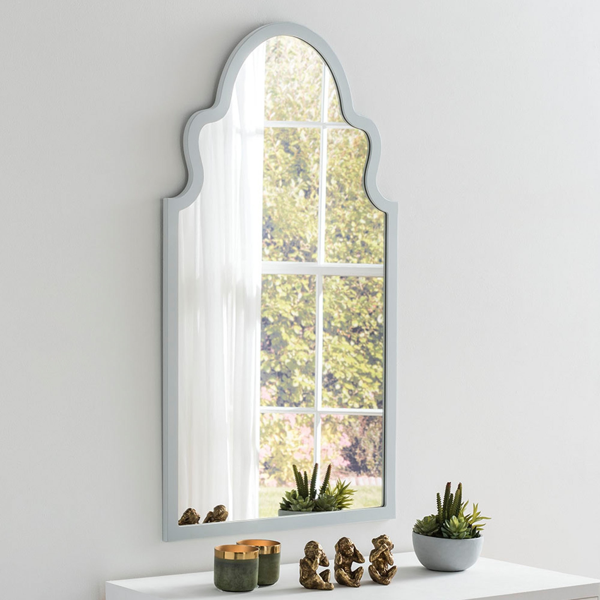 Contemporary Morocco Light Grey Wall Mirror For Most Popular Moroccan Wall Mirrors (Gallery 10 of 20)