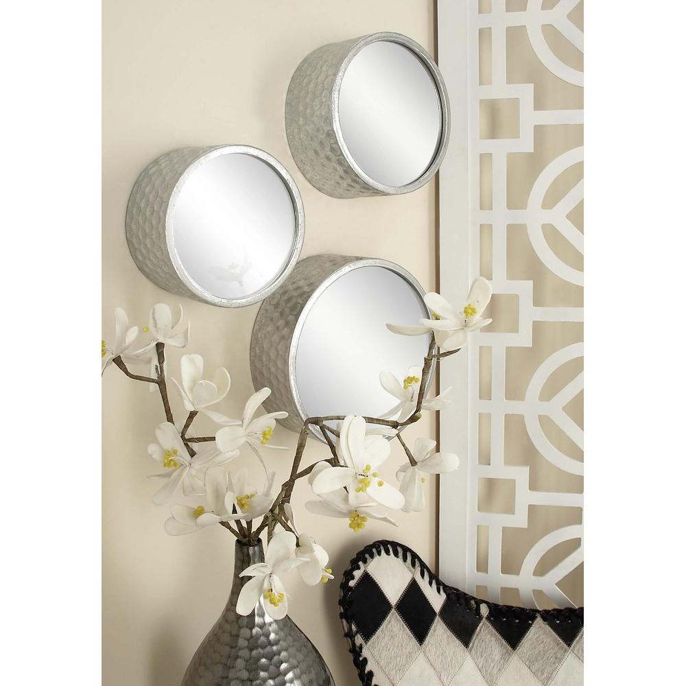Contemporary Round Decorative Wall Mirrors (set Of 7) With Regard To Well Known Round Decorative Wall Mirrors (View 9 of 20)