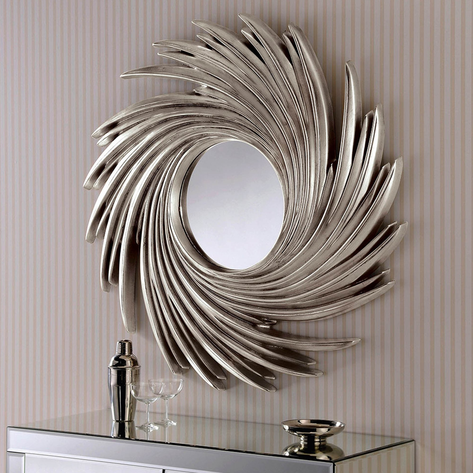 Contemporary Silver Swirl Wall Mirror Pertaining To 2019 Swirl Wall Mirrors (Gallery 6 of 20)
