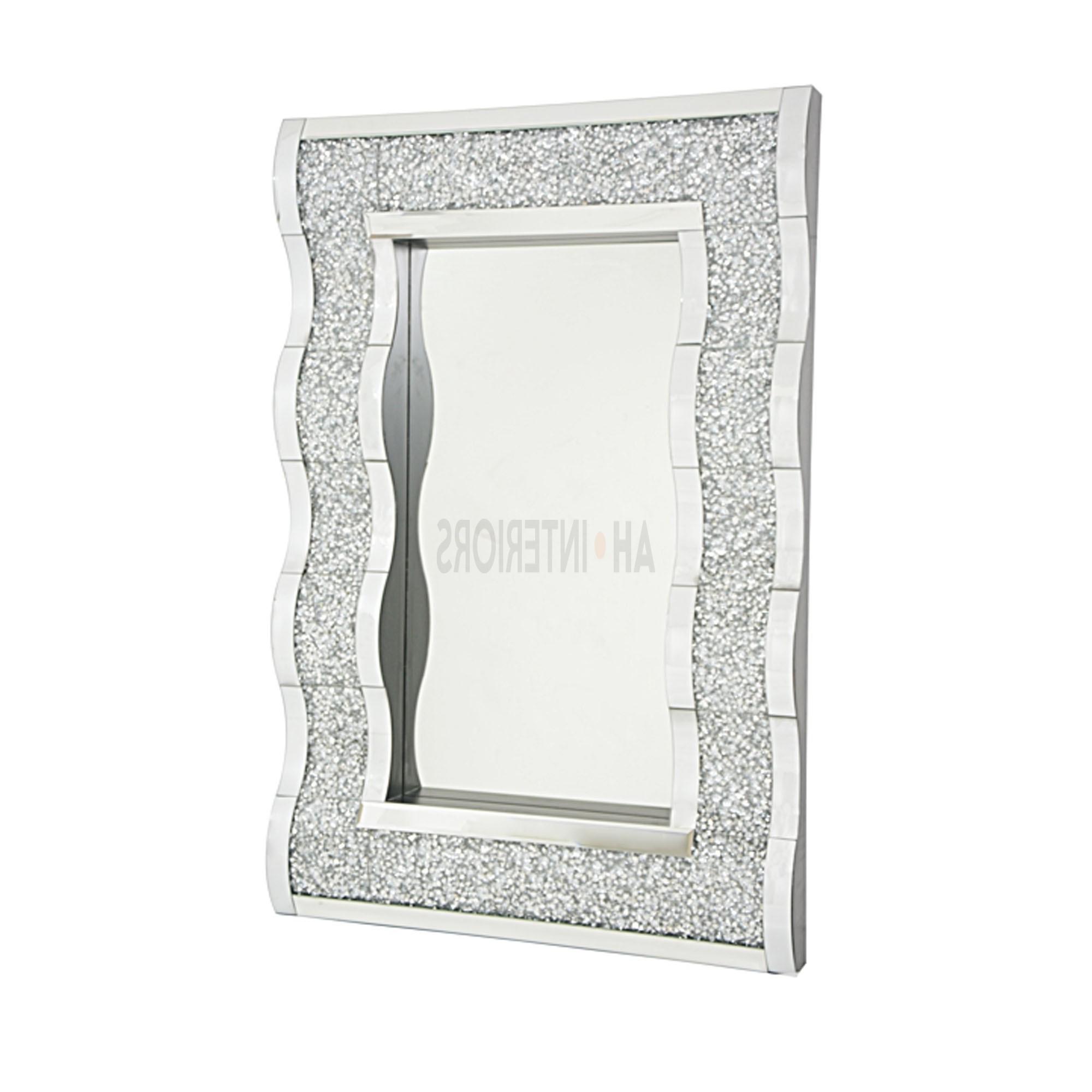 Contemporary Sparkling Diamond Surround (View 8 of 20)