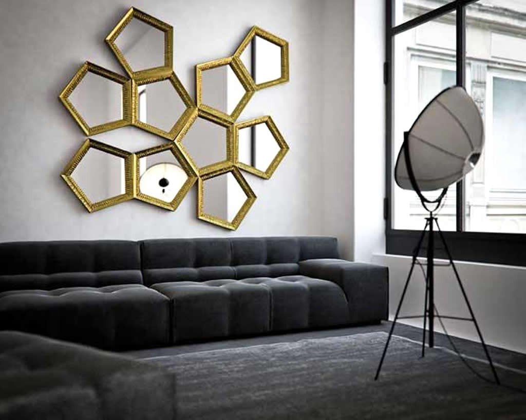 Contemporary Wall Mirrors Regarding 2019 Contemporary Wall Mirrors For Small Living Room Apartment (View 4 of 20)