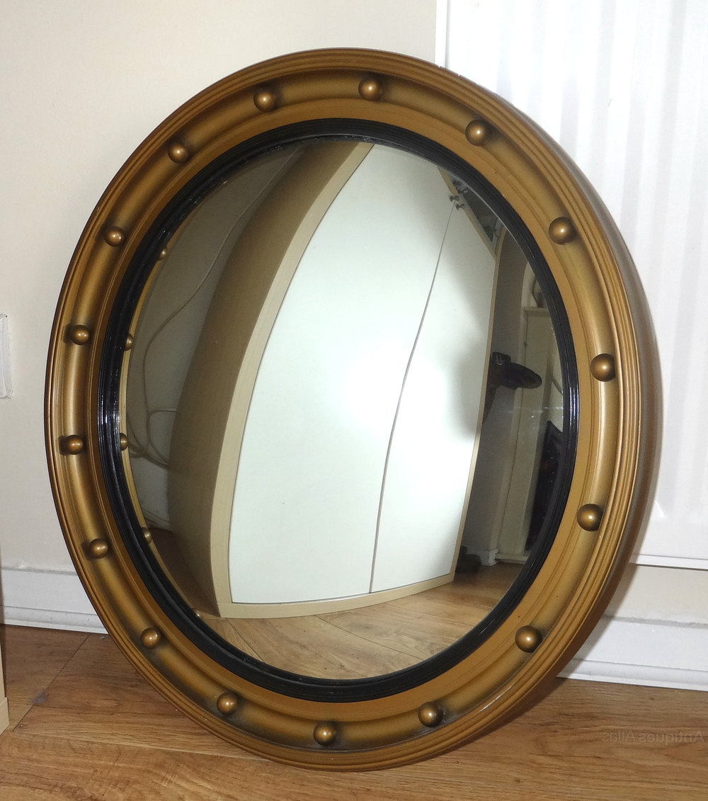 Convex Wall Mirrors Intended For Latest Antique Large Convex Wall Mirror (View 17 of 20)