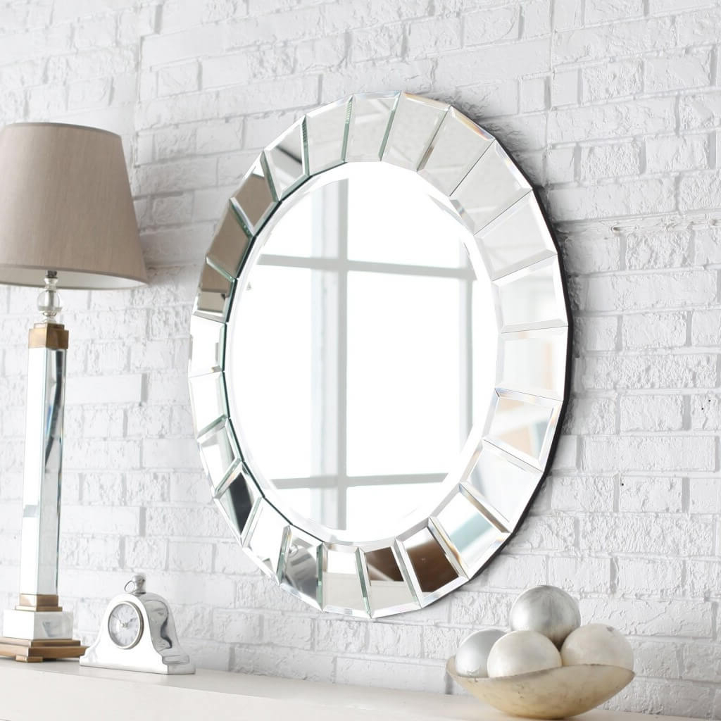 Cool Wall Art Mirrors Modern Design Entire Of Silver Mirror With Regard To Widely Used Cool Wall Mirrors (View 8 of 20)