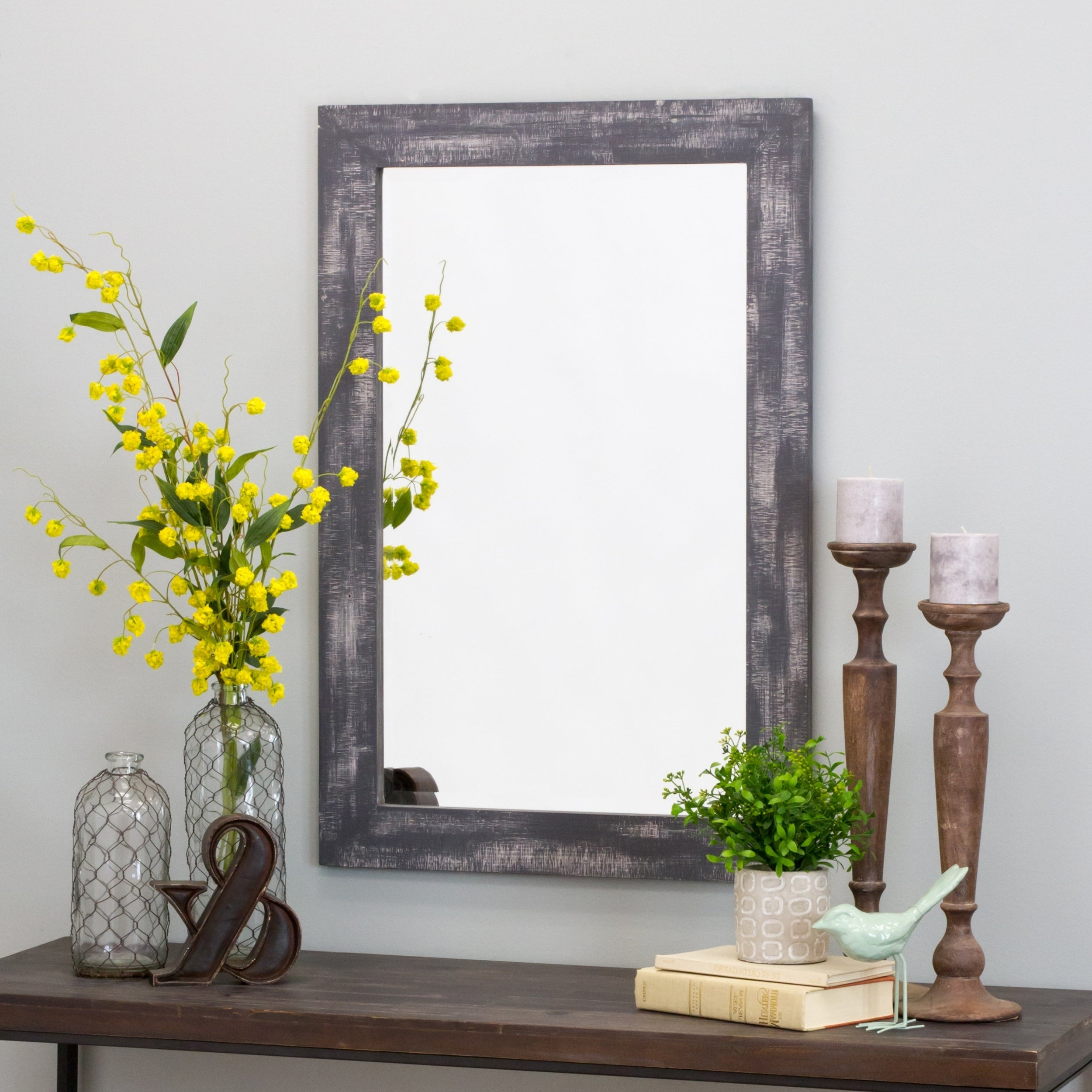 """Cool Wall Mirrors For Most Current Morris Wall Mirror – Gray 36 X 24 – Grey – 36""""h X 24""""w X 1""""d (View 16 of 20)"""