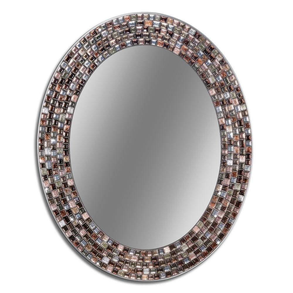 Copper Wall Mirrors Within Well Liked Deco Mirror Frameless Mosaic 23 In. X 29 In (View 11 of 20)