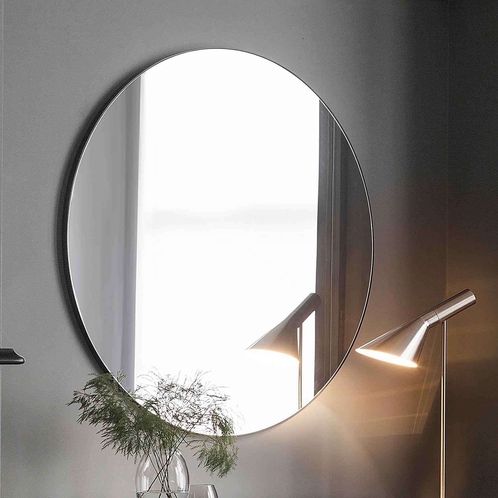 Coralie Round Wall Mirror, Black Intended For 2019 Black Wall Mirrors (View 13 of 20)