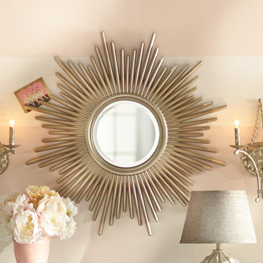 Court's Apt Ideas With Regard To Well Liked Josephson Starburst Glam Beveled Accent Wall Mirrors (Gallery 8 of 20)