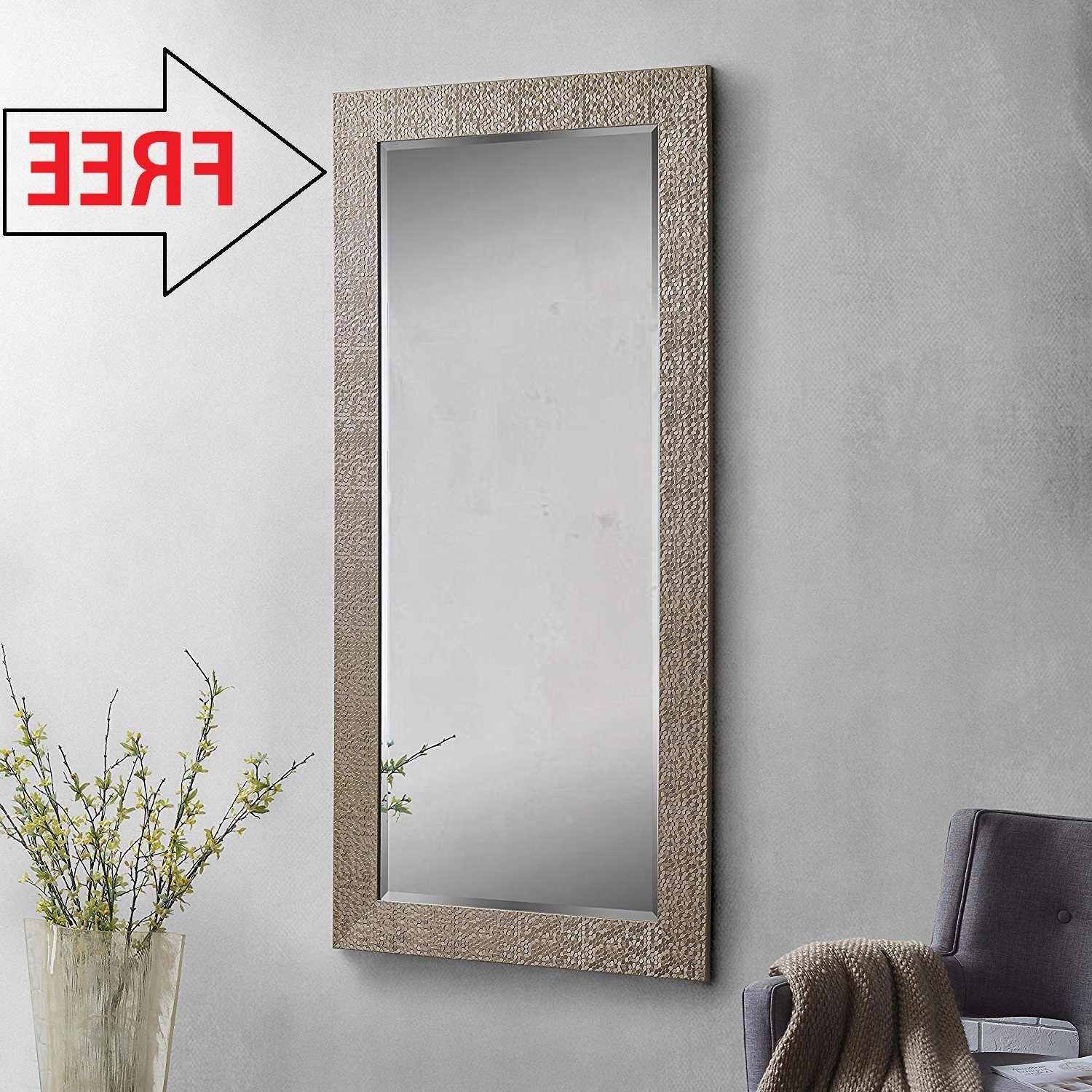 Creative Arts N Frame Long Full Length Fiber Wood Framed Wall Mirror Inside Famous Full Size Wall Mirrors (View 20 of 20)
