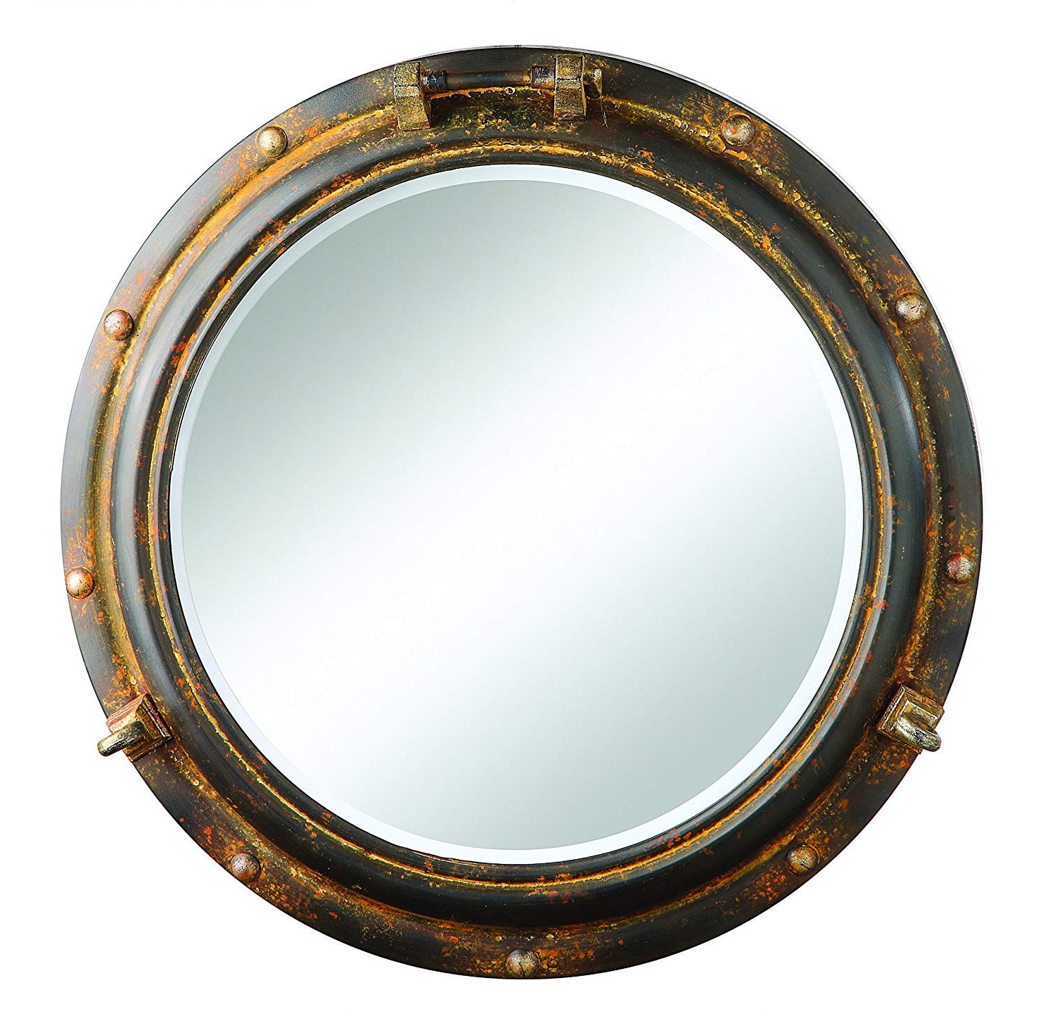 """Creative Co Op Port Hole Framed Mirror, 22"""" L X 22"""" W X 3"""" H For Most Current Porthole Wall Mirrors (View 3 of 20)"""