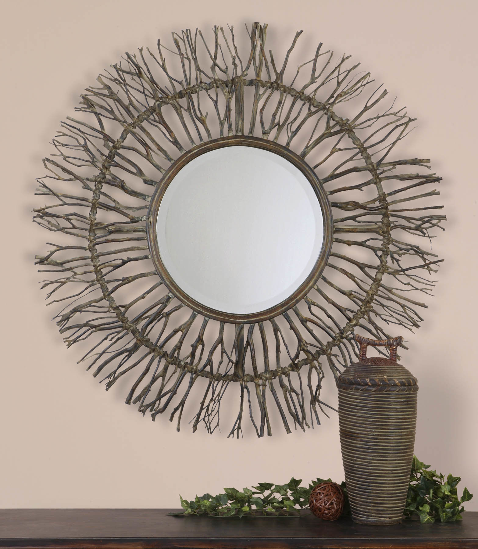 Cromartie Tree Branch Wall Mirrors With Regard To Latest Sunburst Decorative Mirror (View 16 of 20)