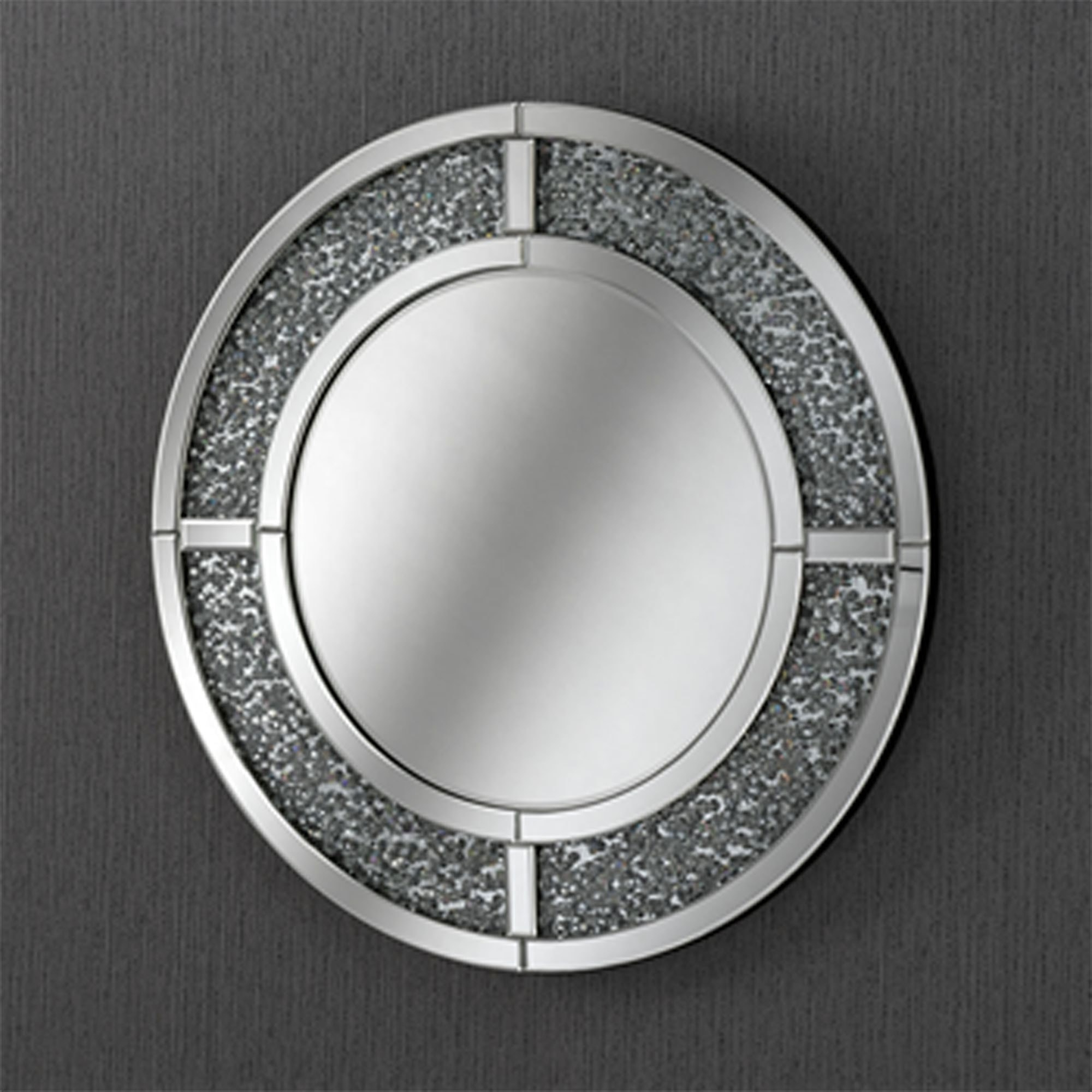 Crystal Crush Contemporary Wall Mirror Inside Fashionable Contemporary Wall Mirrors (View 20 of 20)