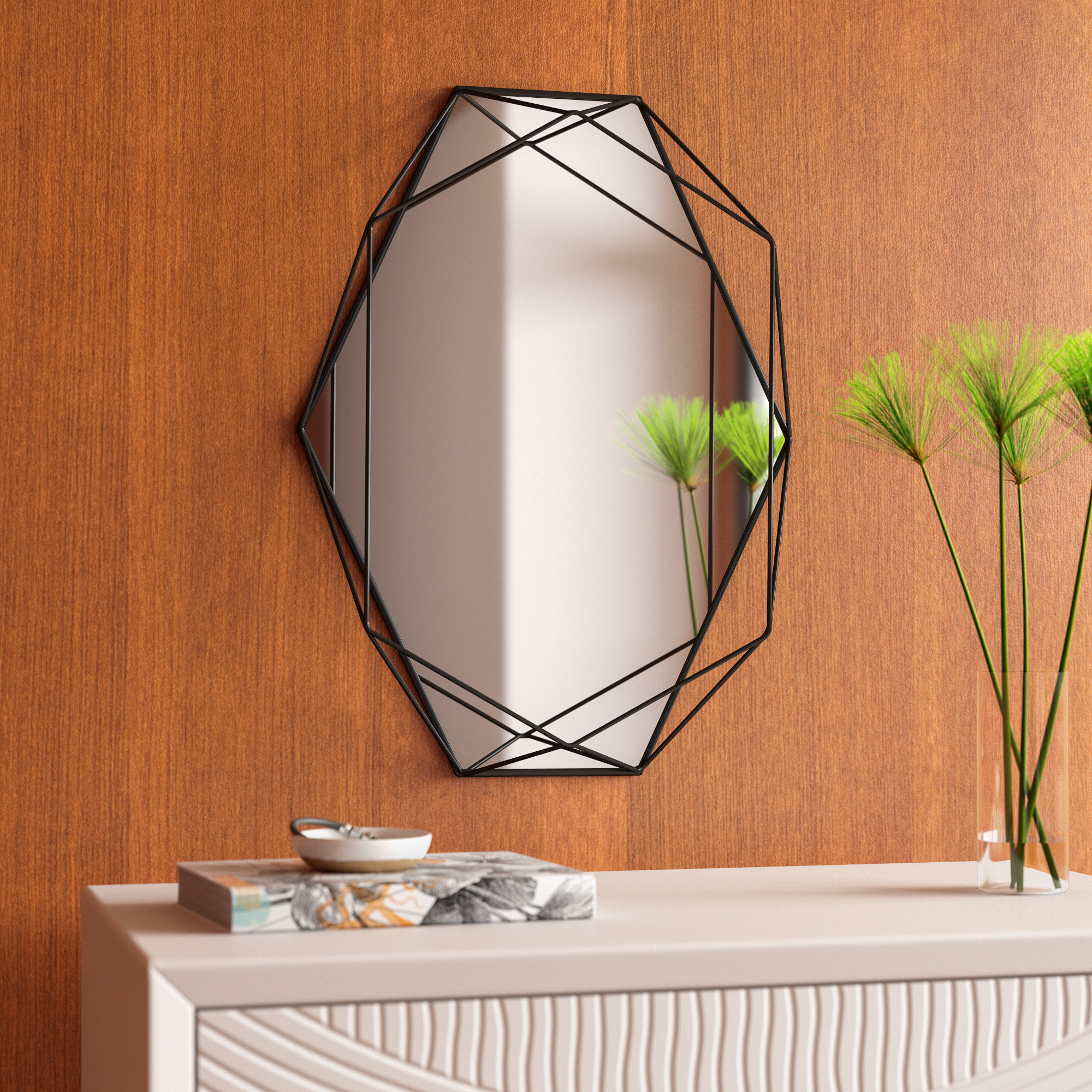 Current 3 Piece Dima Hanging Modern & Contemporary Mirror Sets Regarding Prisma Modern & Contemporary Accent Mirror (View 12 of 20)
