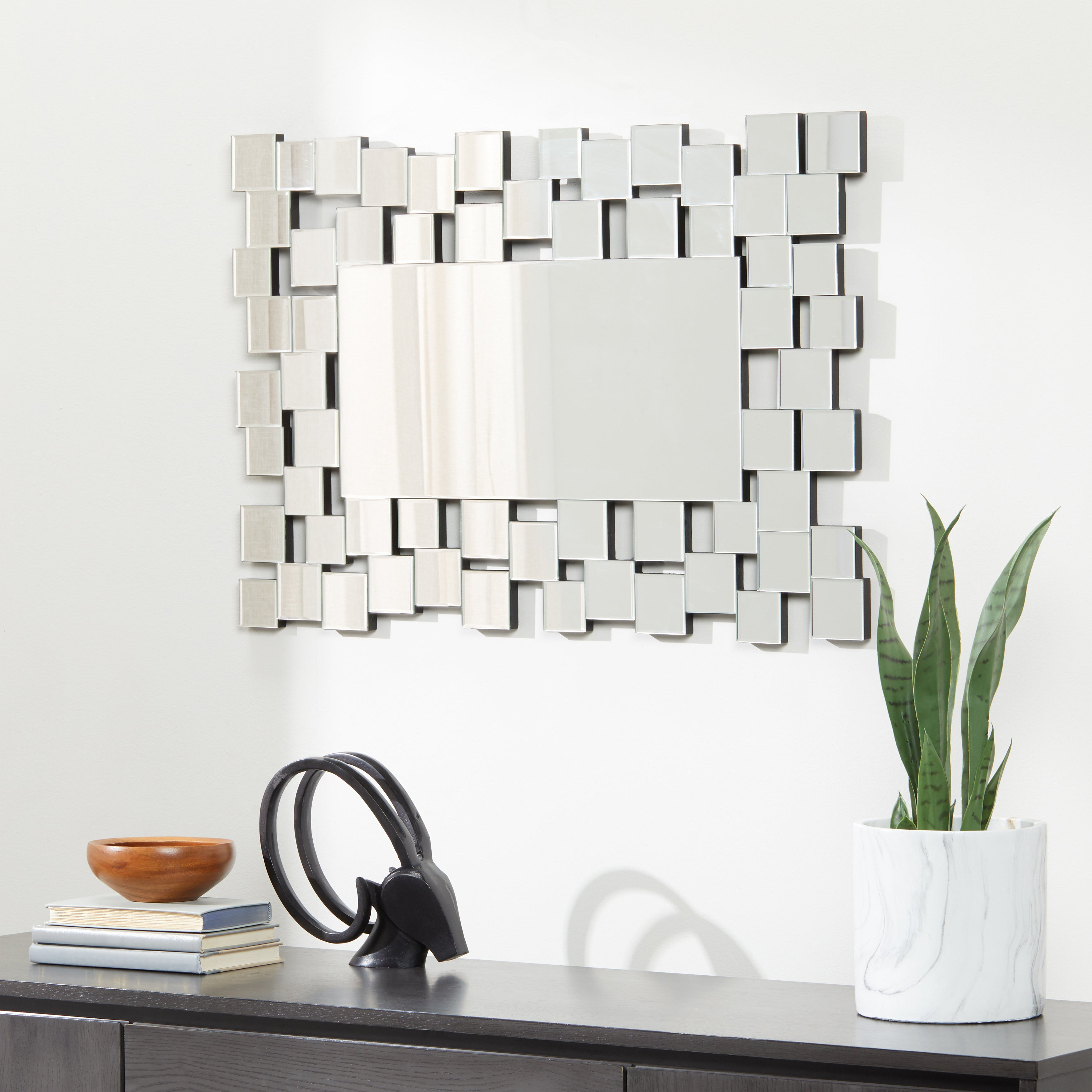 Current Abbyson Aiden Rectangle Wall Mirror – Silver Intended For Rectangle Wall Mirrors (View 17 of 20)