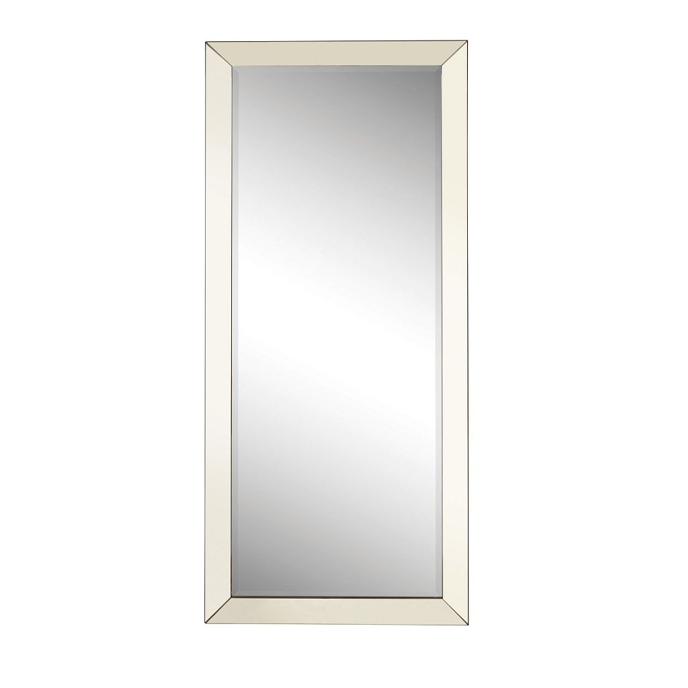 Current Accent Mirrors Contemporary Floor Mirror With Mirrored Frame Within Silver Frame Accent Mirrors (View 3 of 20)