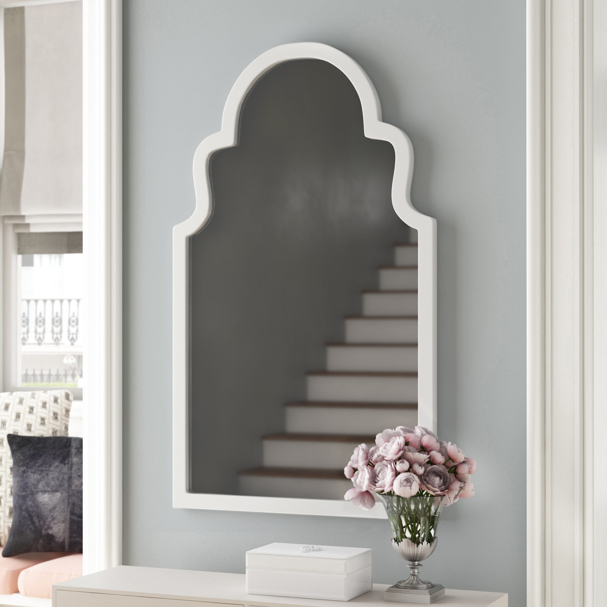 Current Arch Vertical Wall Mirror Within Fifi Contemporary Arch Wall Mirrors (View 5 of 20)