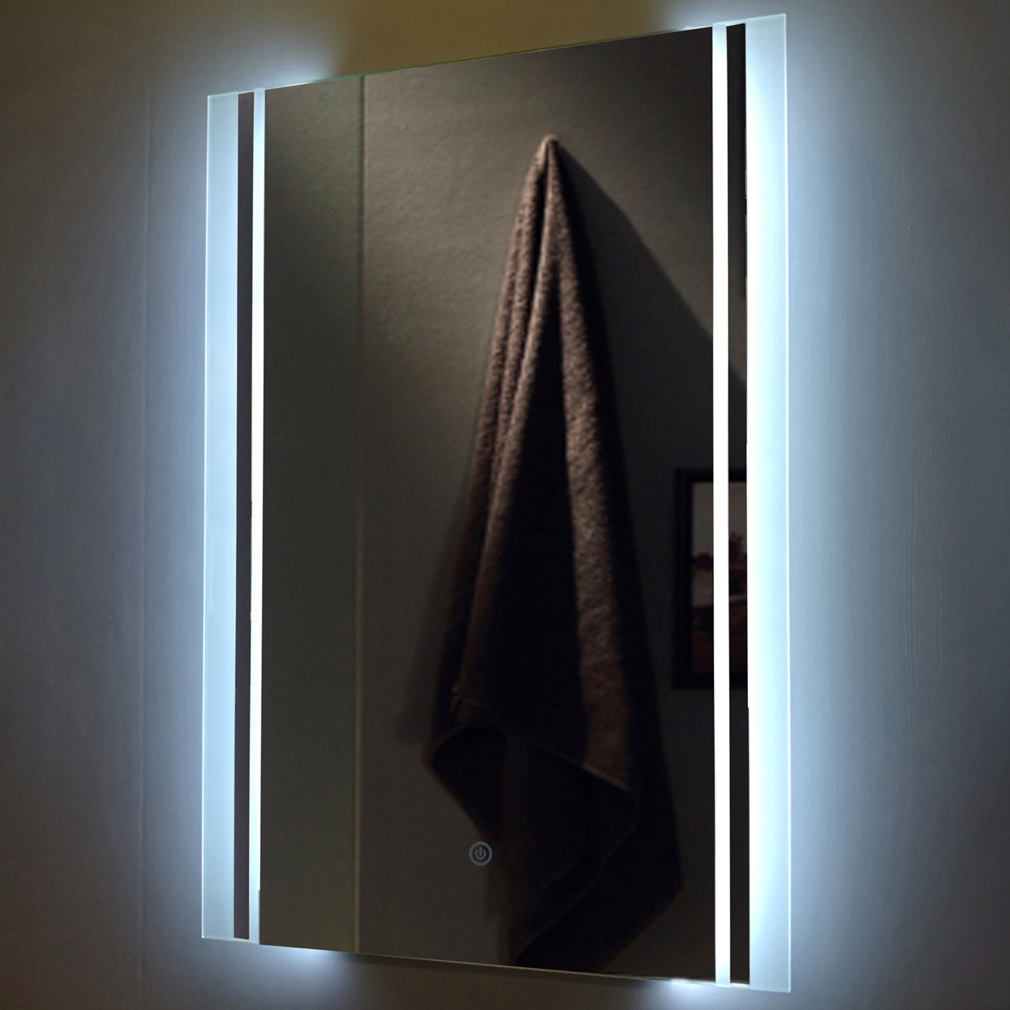 Current Backlit Wall Mirrors For Klaus Rectangular Backlit Wall Mirror (View 15 of 20)