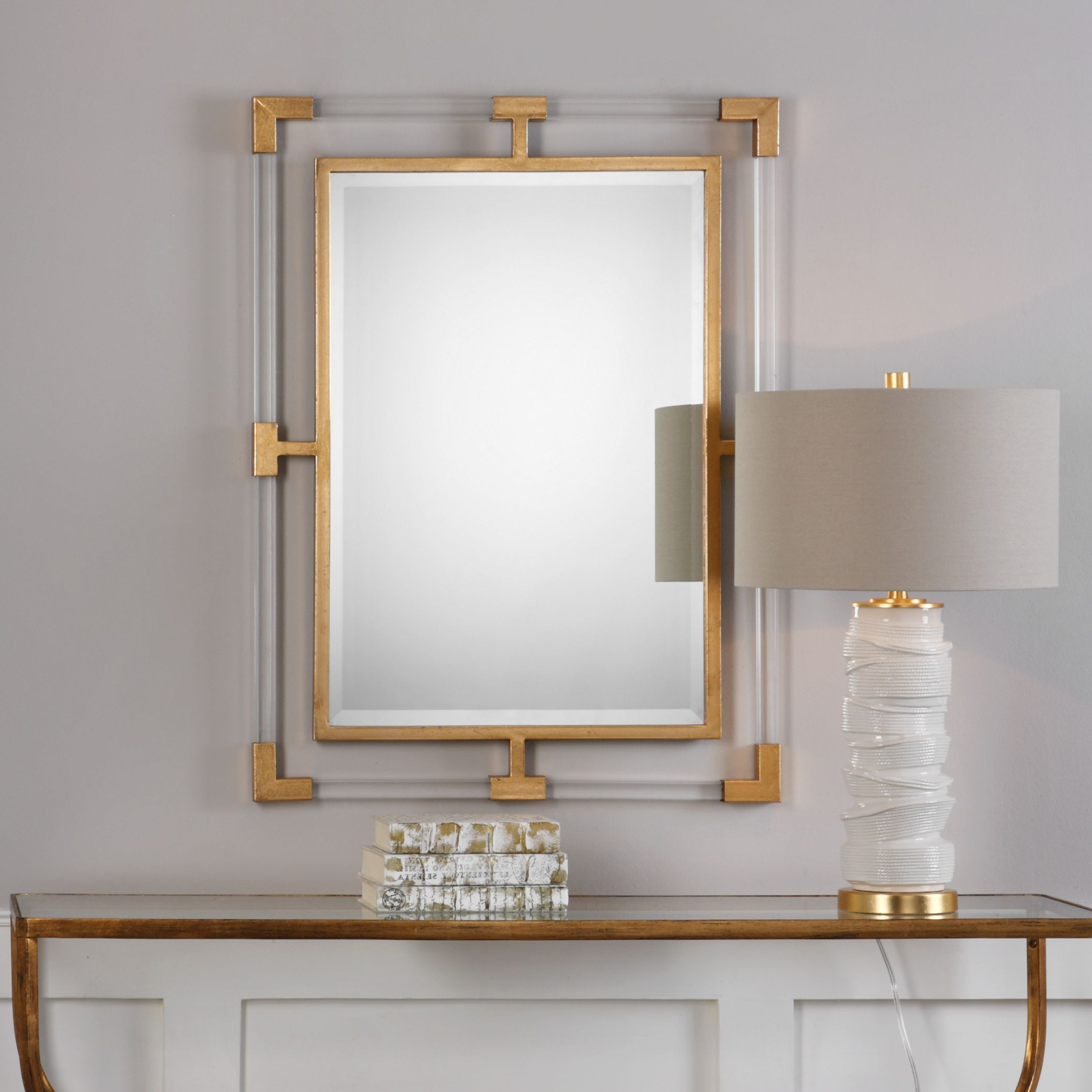 Current Balkan Modern Gold Wall Mirror – 27.5X37.5X1.375 Throughout Acrylic Wall Mirrors (Gallery 6 of 20)