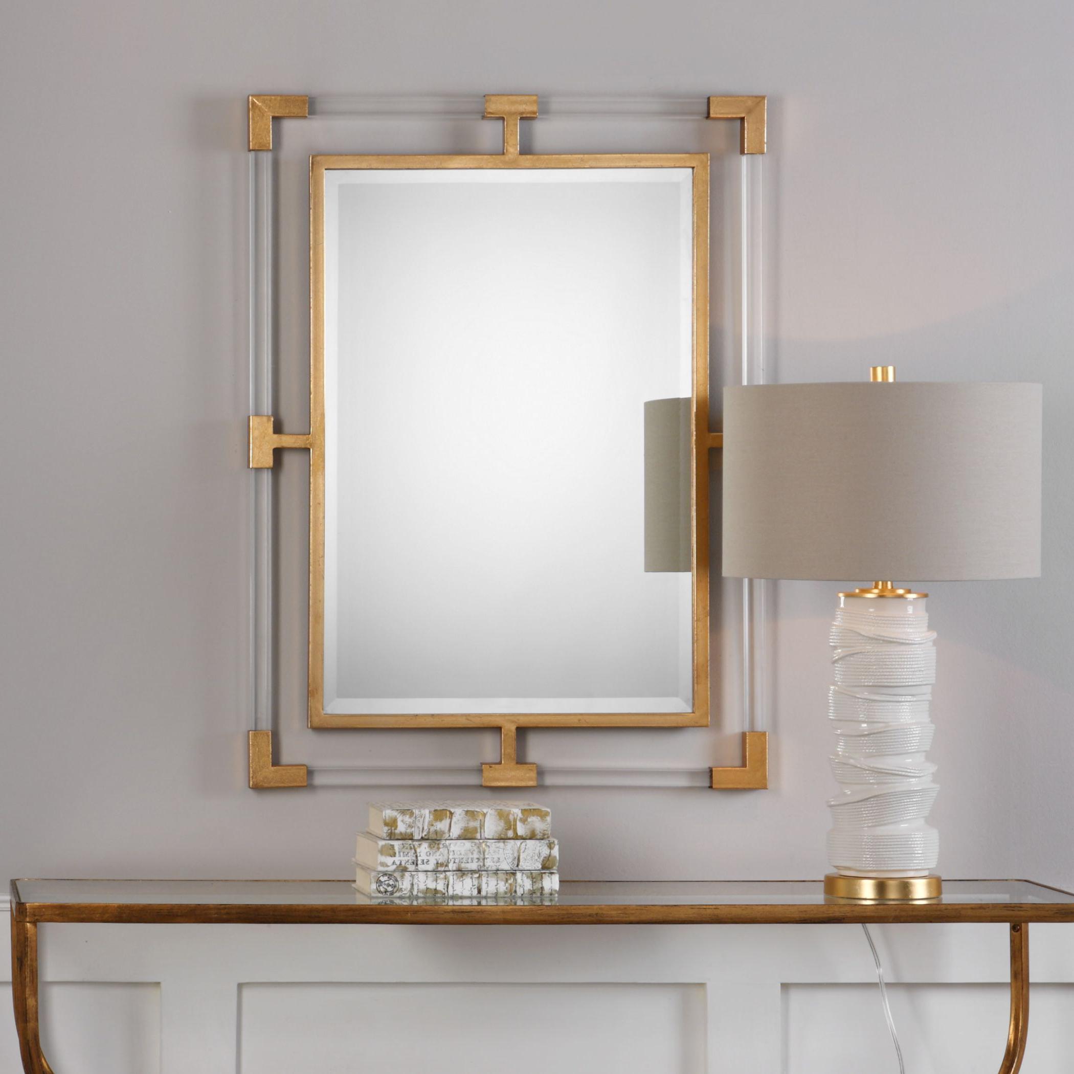 Current Balkan Modern Gold Wall Mirror – 27.5x37.5x (View 6 of 20)