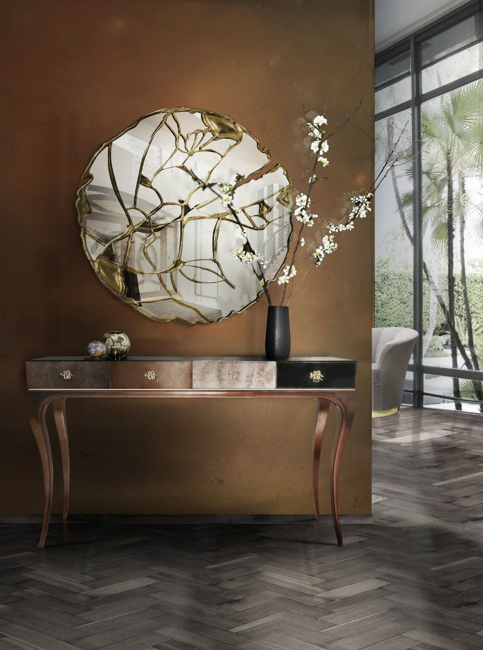 Current Beautiful Wall Mirrors Throughout The Most Beautiful Wall Mirror Designs For Your Living Room (View 2 of 20)