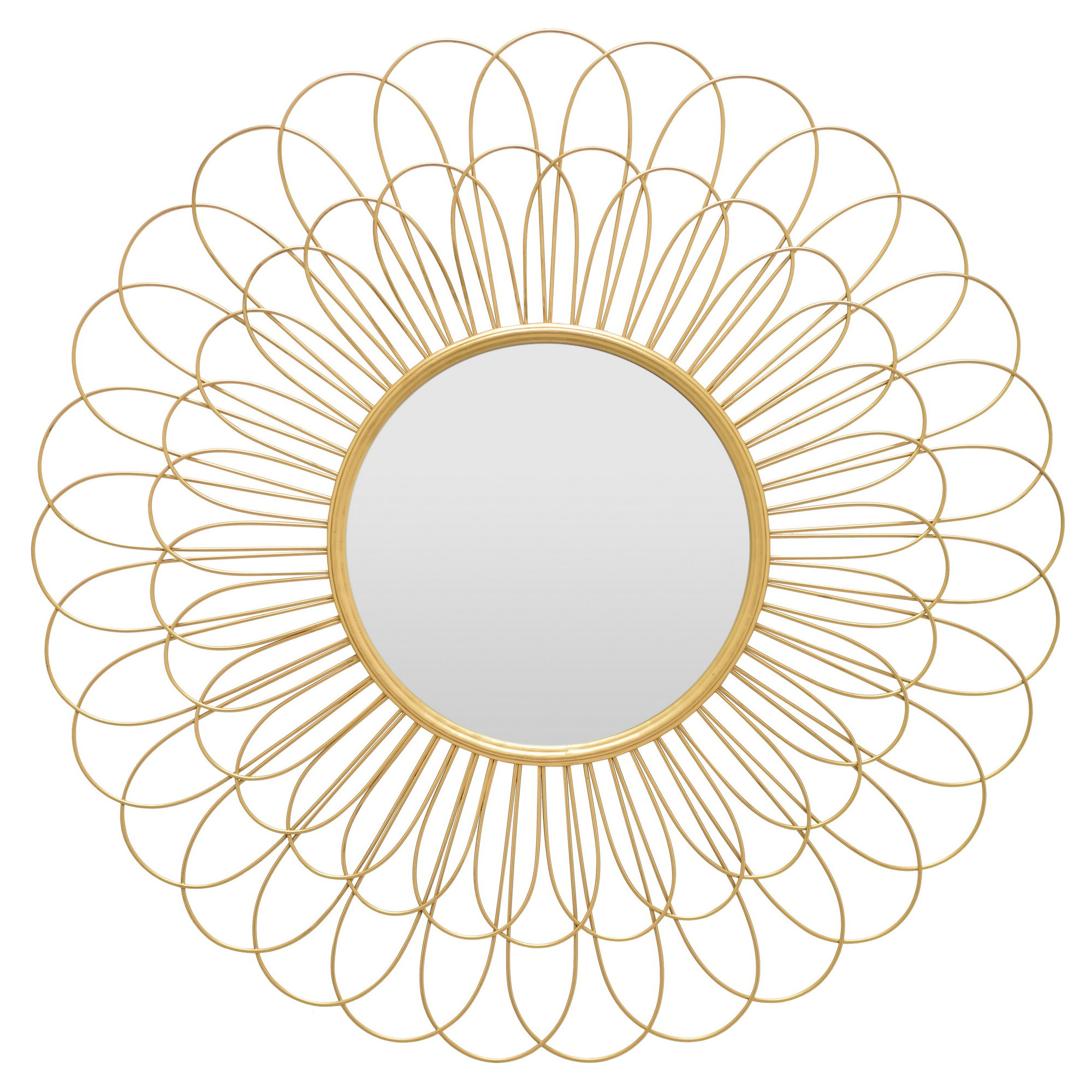 Current Brysen Petal Contemporary Accent Mirror For Harbert Modern And Contemporary Distressed Accent Mirrors (View 5 of 20)