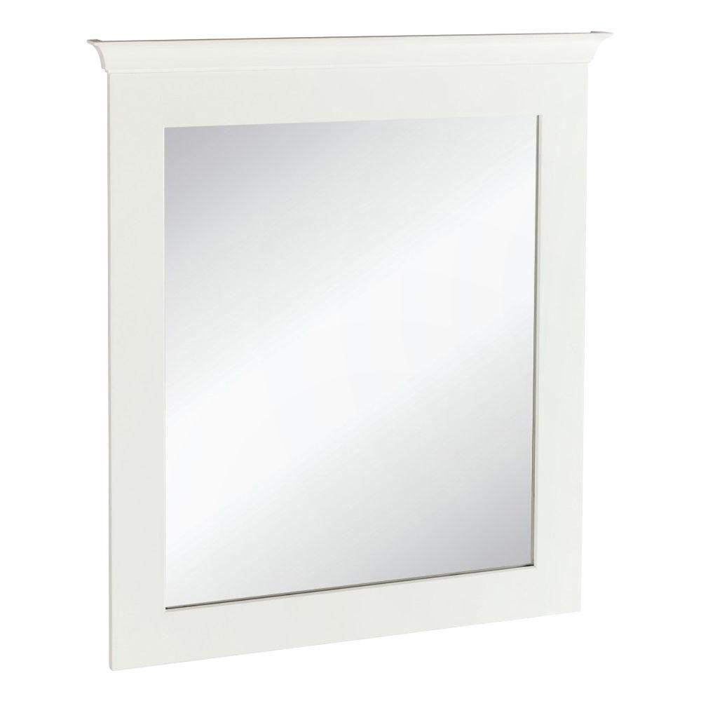 Current Burgoyne Vanity Mirrors Regarding Home Decorators Collection Creeley 30 In. X 34 In. Framed Bath (Gallery 12 of 20)