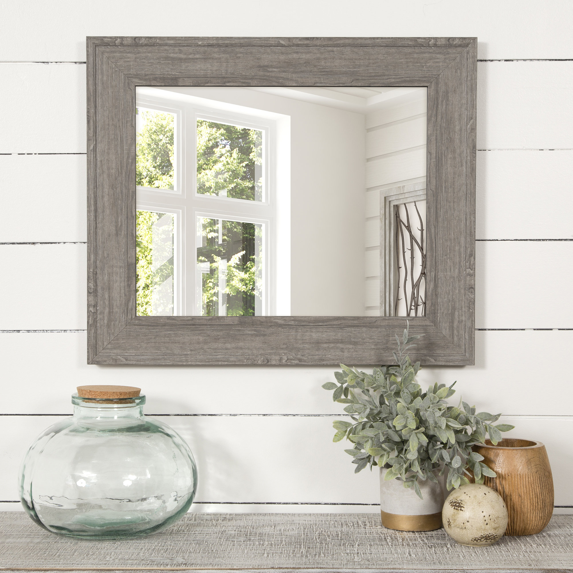 Current Caton Woodgrain Framed Full Length Mirror Intended For Longwood Rustic Beveled Accent Mirrors (View 18 of 20)