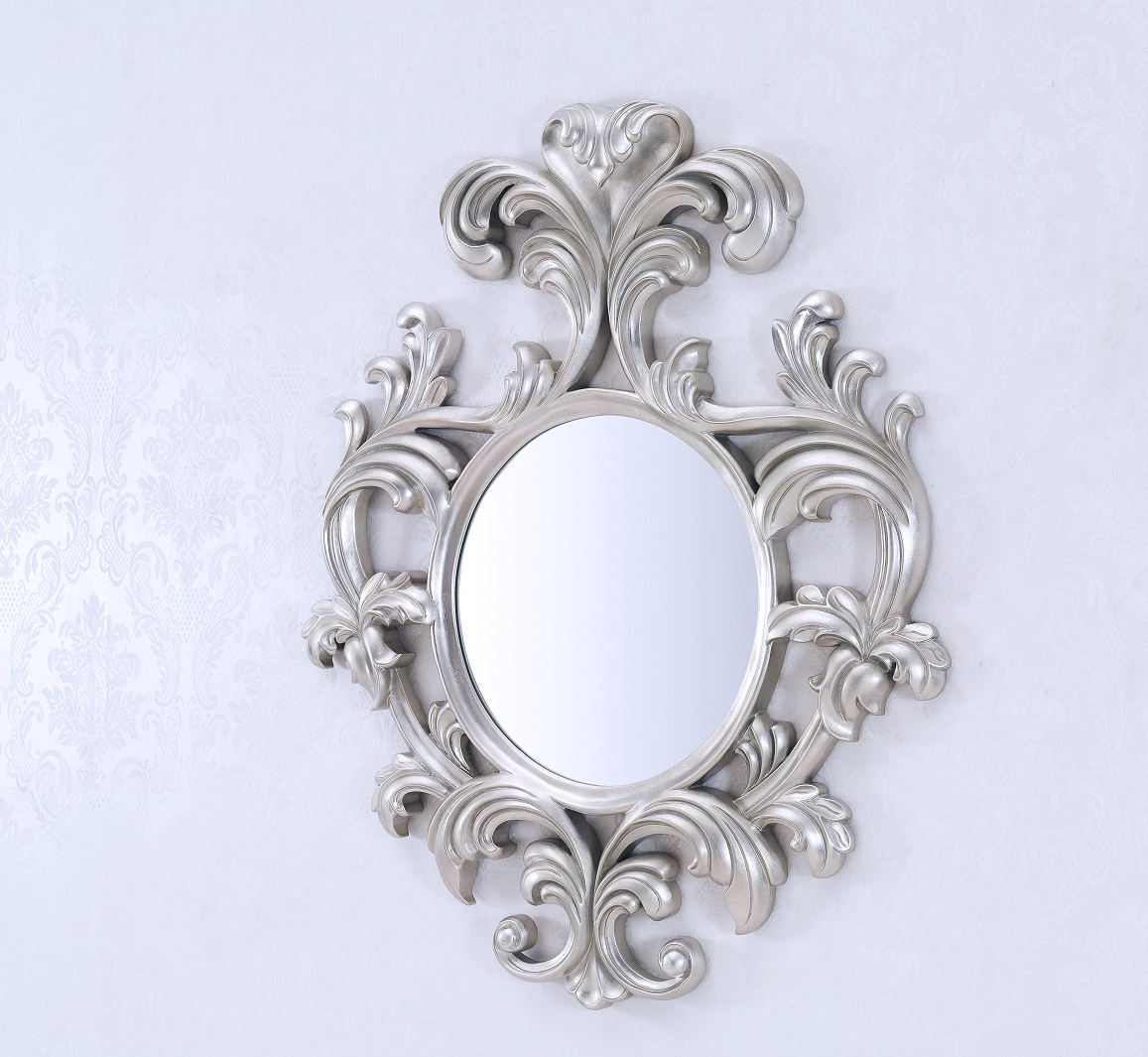 Current Decorative Wall Mirror – Geneve Silver With Large Decorative Wall Mirrors (View 11 of 20)