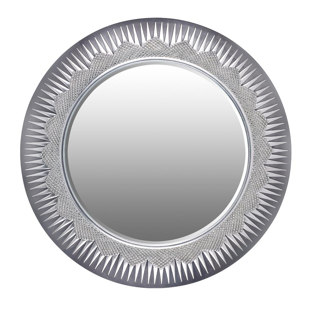 Current Decorative Wall Mirrors Intended For Solar Gray Decorative Wall Mirror (View 4 of 20)
