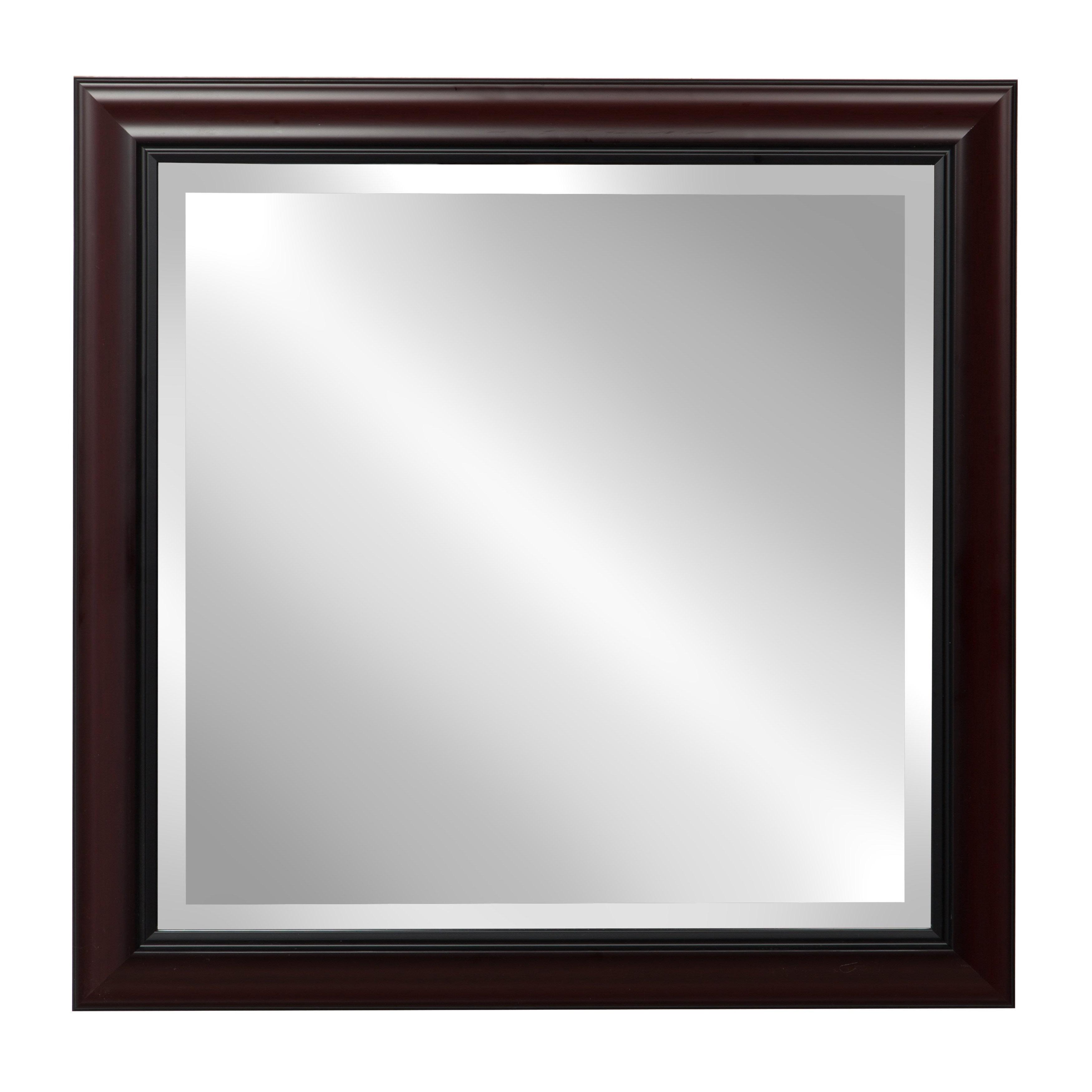 Current Designovation Dalat Cherry Framed Beveled Wall Mirror Regarding Cherry Wood Framed Wall Mirrors (View 6 of 20)