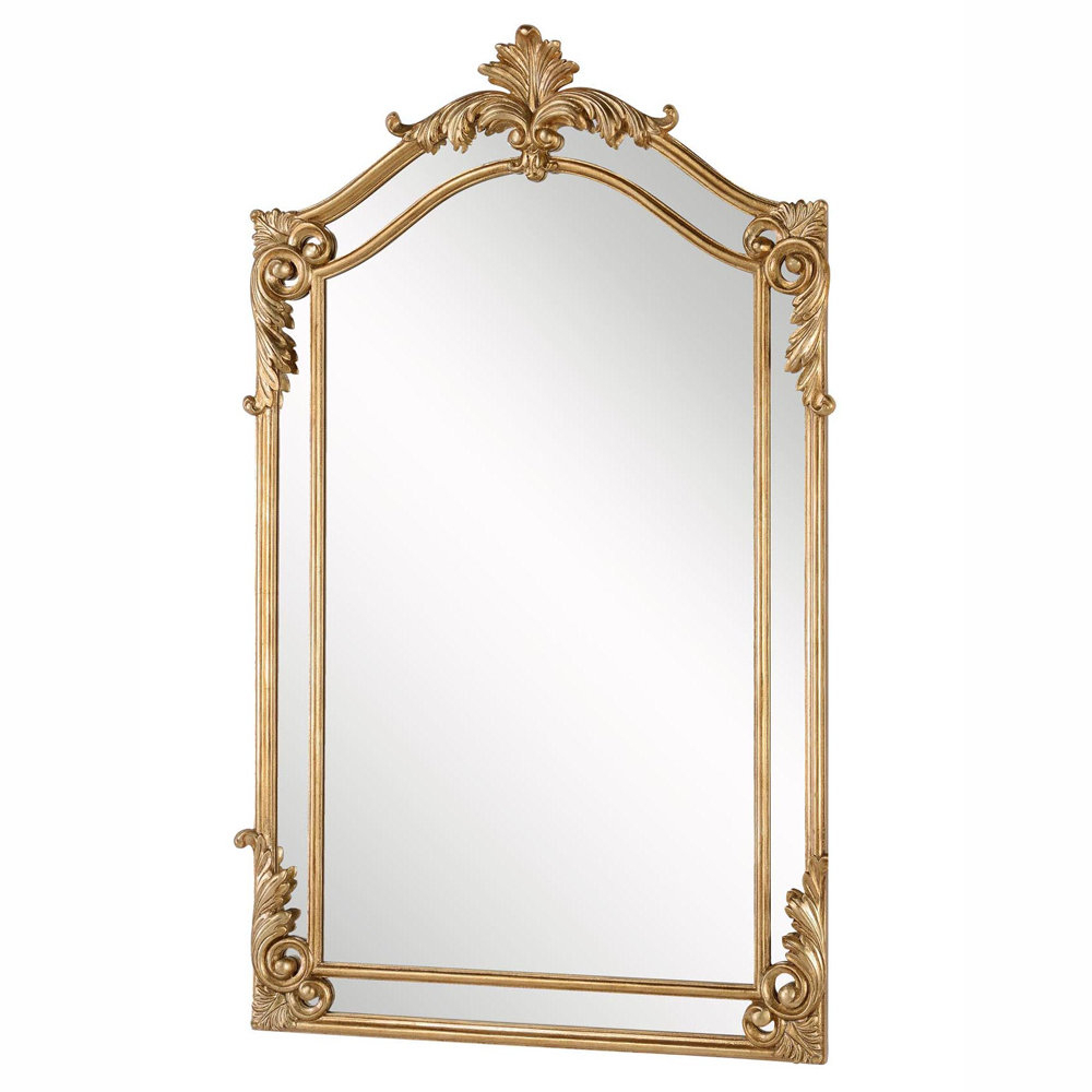 Current Details About Astoria Grand Gold Arch/crowned Top Wood Traditional Beveled Wall Mirror Throughout Gold Arch Wall Mirrors (View 8 of 20)