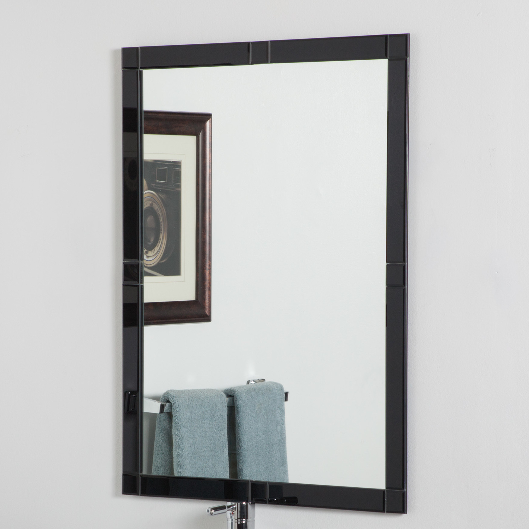 Current Details About Decor Wonderland Frameless Beveled Kinana Wall Mirror For Frameless Molten Wall Mirrors (View 14 of 20)