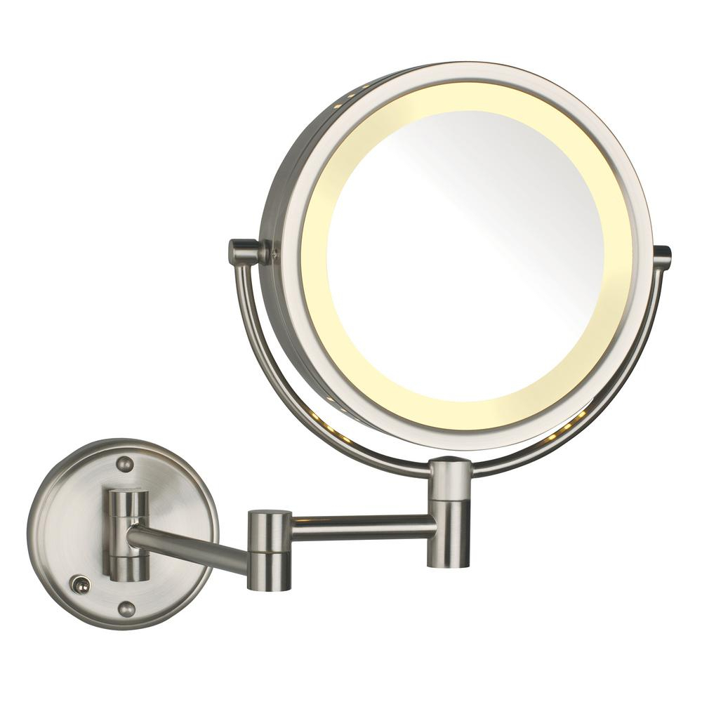 Current Details About Lighted Makeup Mirror 11x14 Wall Mounted Swivel Magnification Anti Fog Swing Arm With Swivel Wall Mirrors (View 7 of 20)