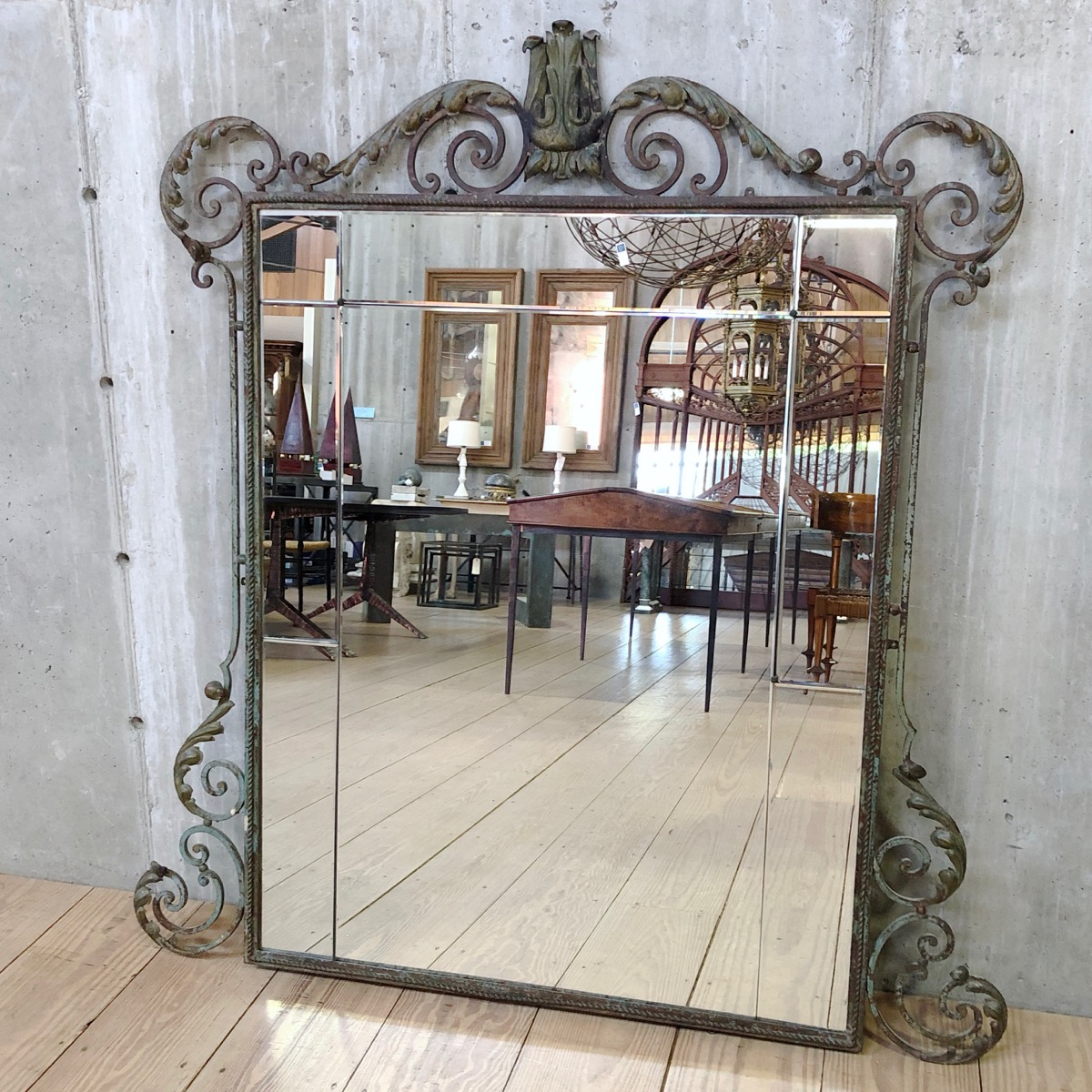 Current Gilbert Wall Mirrors For French Ironwork Deco Gilbert Poillerat Style Mirror (View 13 of 20)