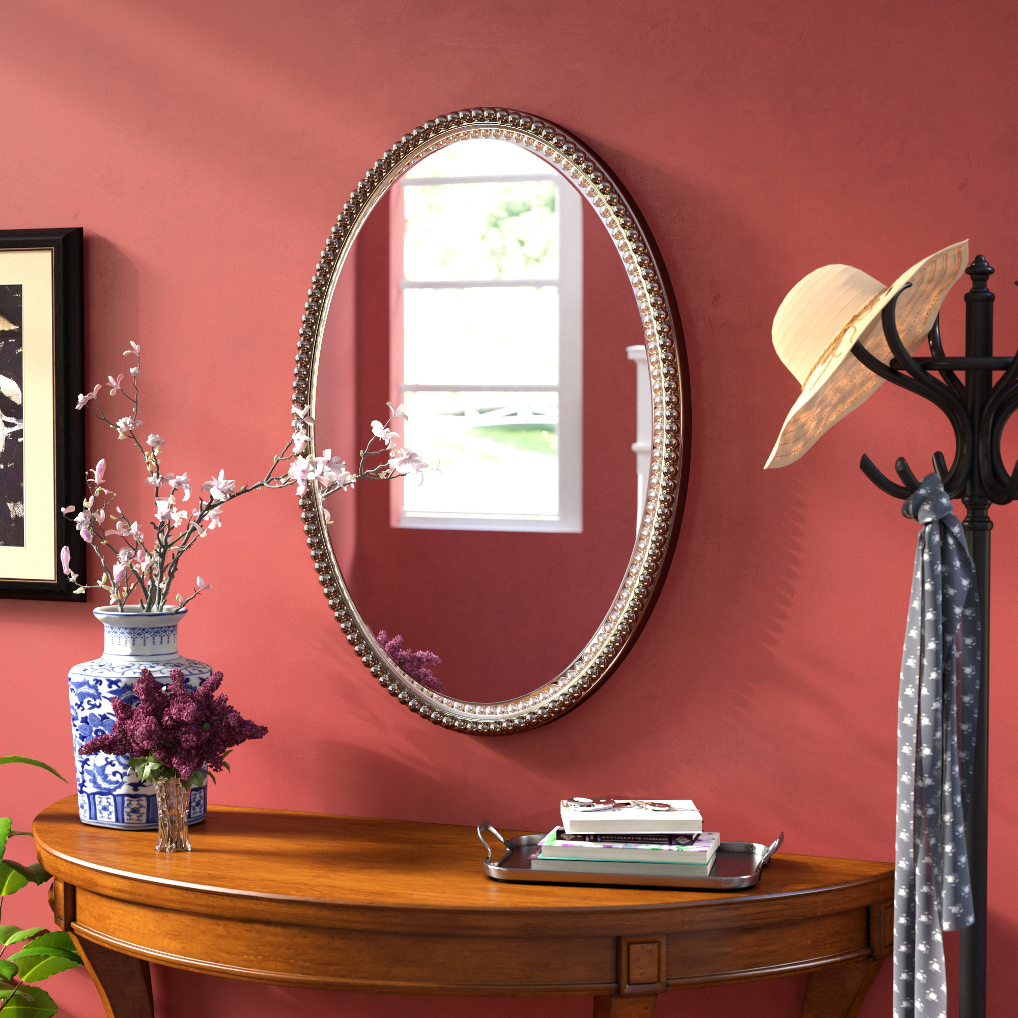 Featured Photo of Glen View Beaded Oval Traditional Accent Mirrors