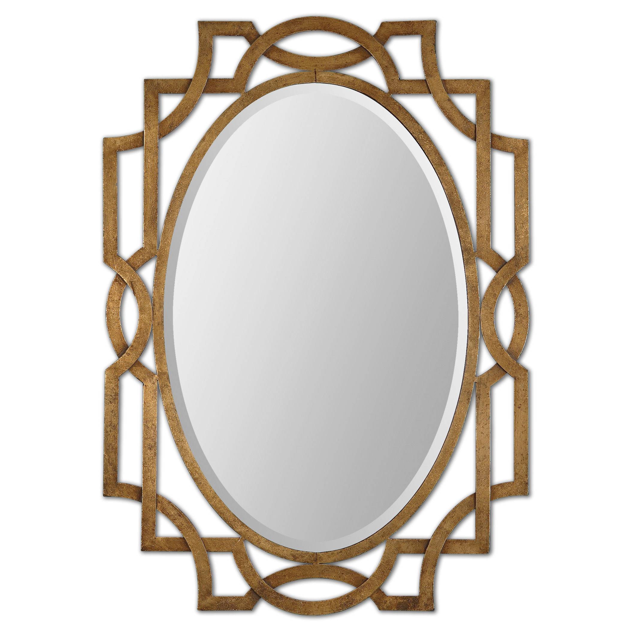 Current Gold Oval Accent Mirror Pertaining To Oval Metallic Accent Mirrors (View 12 of 20)