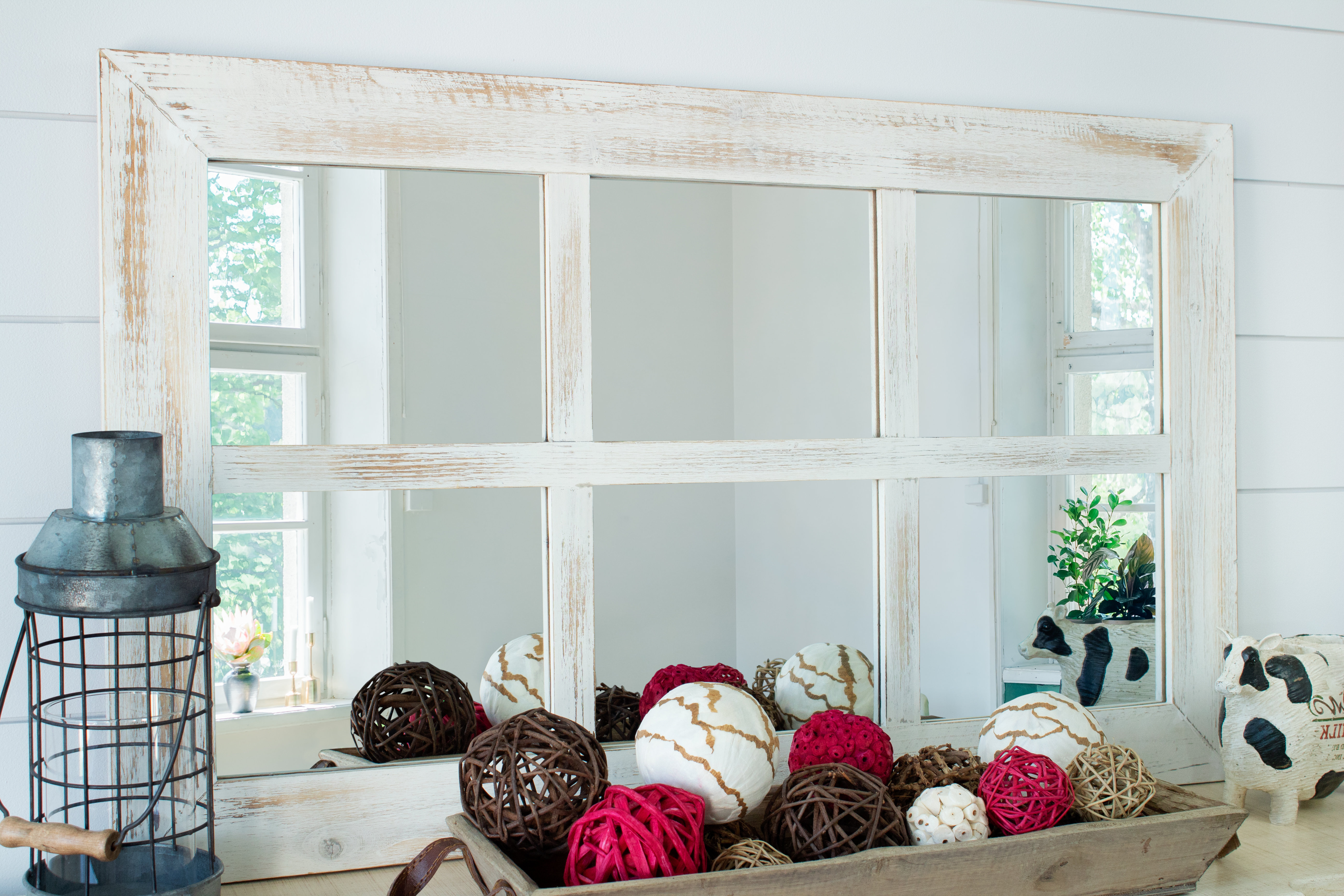 Current Harr Rustic Windowpane Accent Mirror Within 2 Piece Kissena Window Pane Accent Mirror Sets (View 9 of 20)