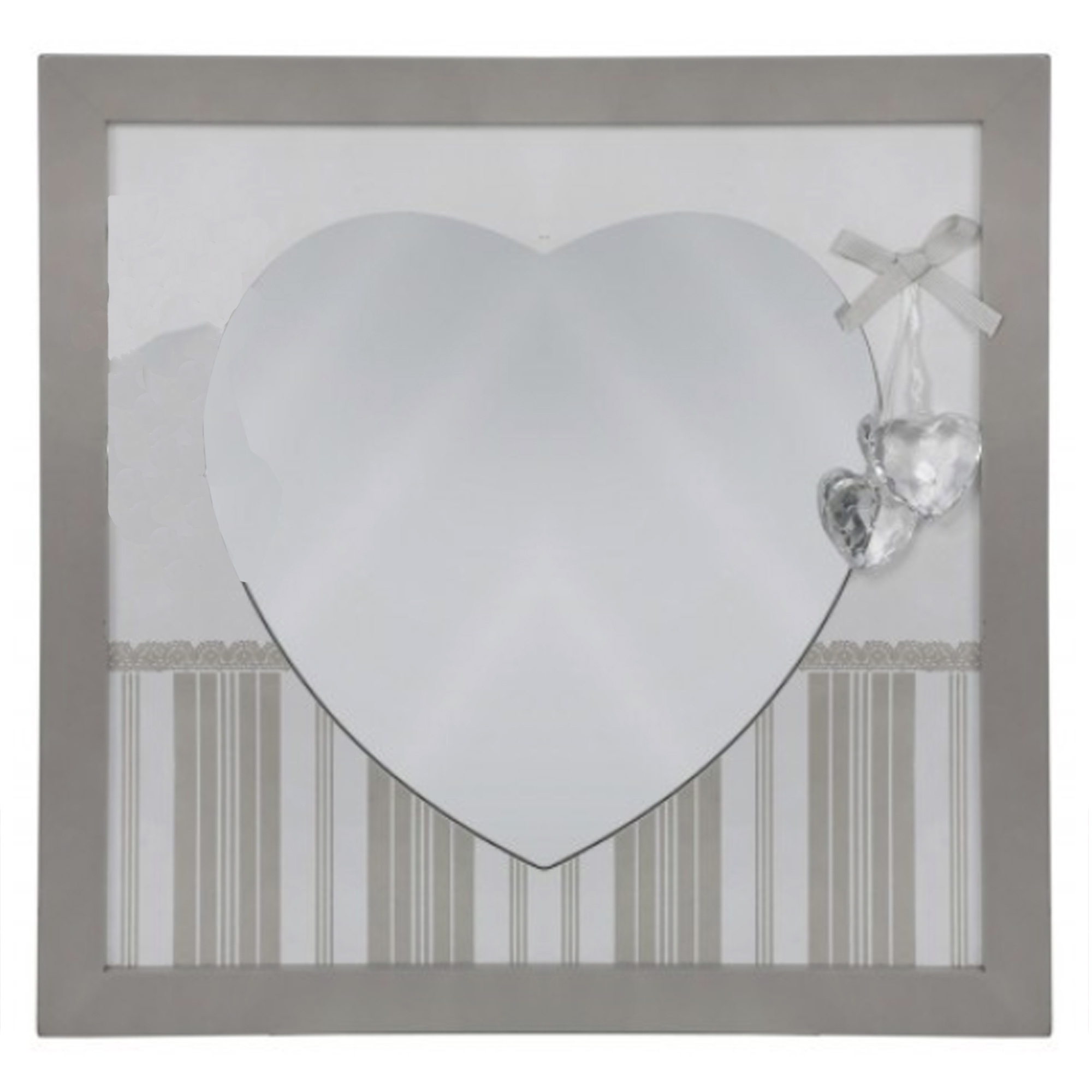 Current Heart Wall Mirrors Regarding Grey Heart Wall Mirrors (Set Of 4) (View 8 of 20)