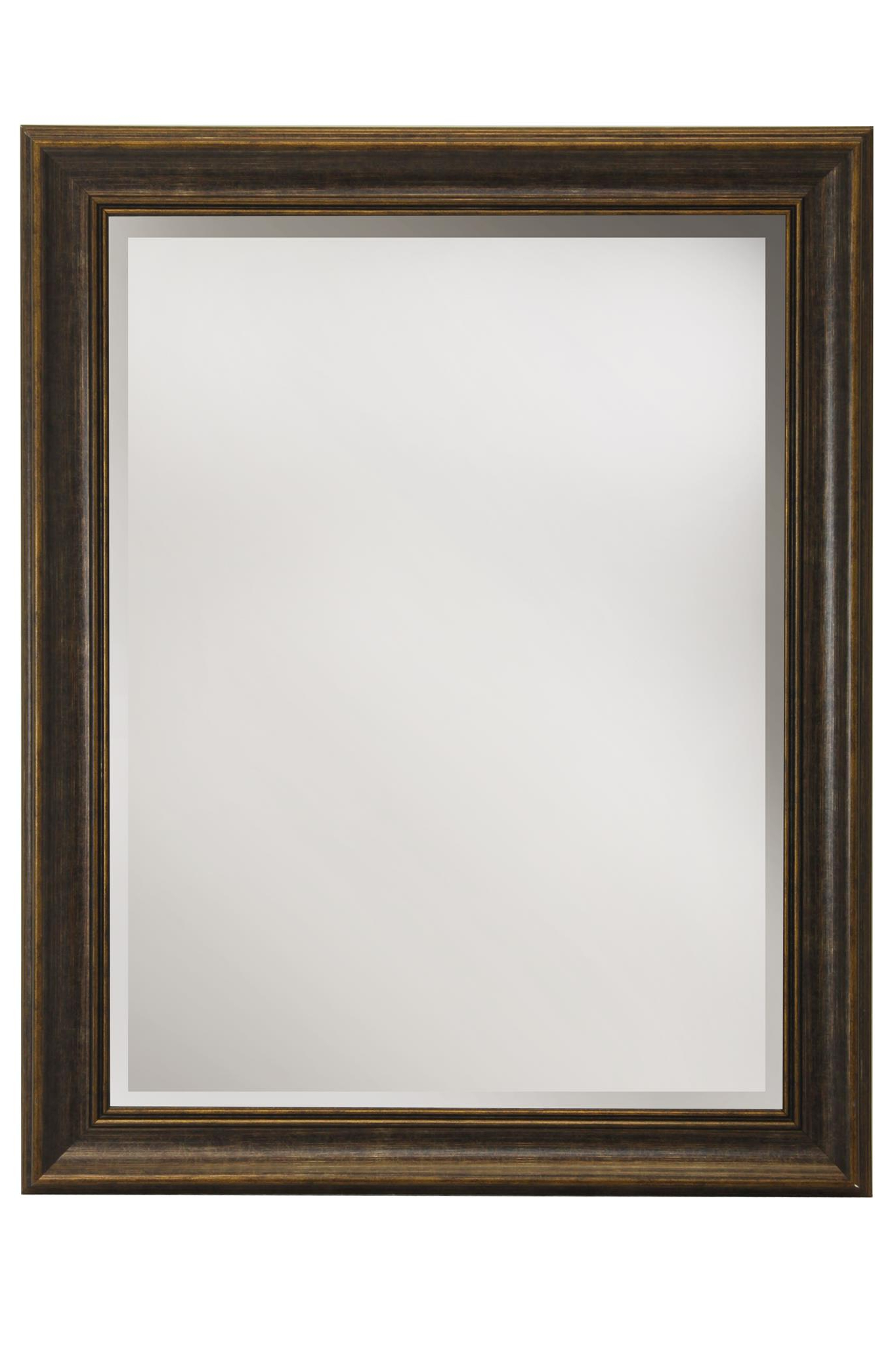 Current Horizontal Wall Mirrors Within Wood Finish Framed Wall Mirror (View 3 of 20)