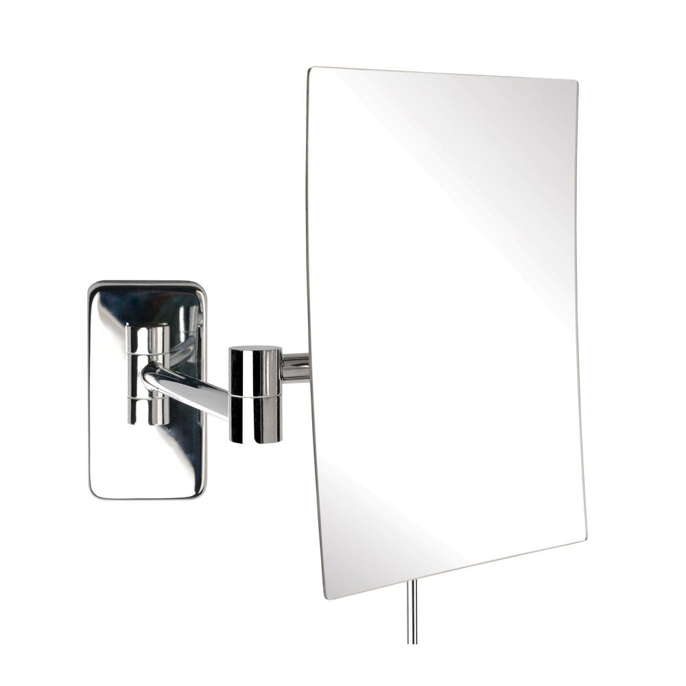 Current Jerdon 9 In. X 10 In. Wall Makeup Mirror In Chrome Pertaining To Extendable Wall Mirrors (Gallery 18 of 20)