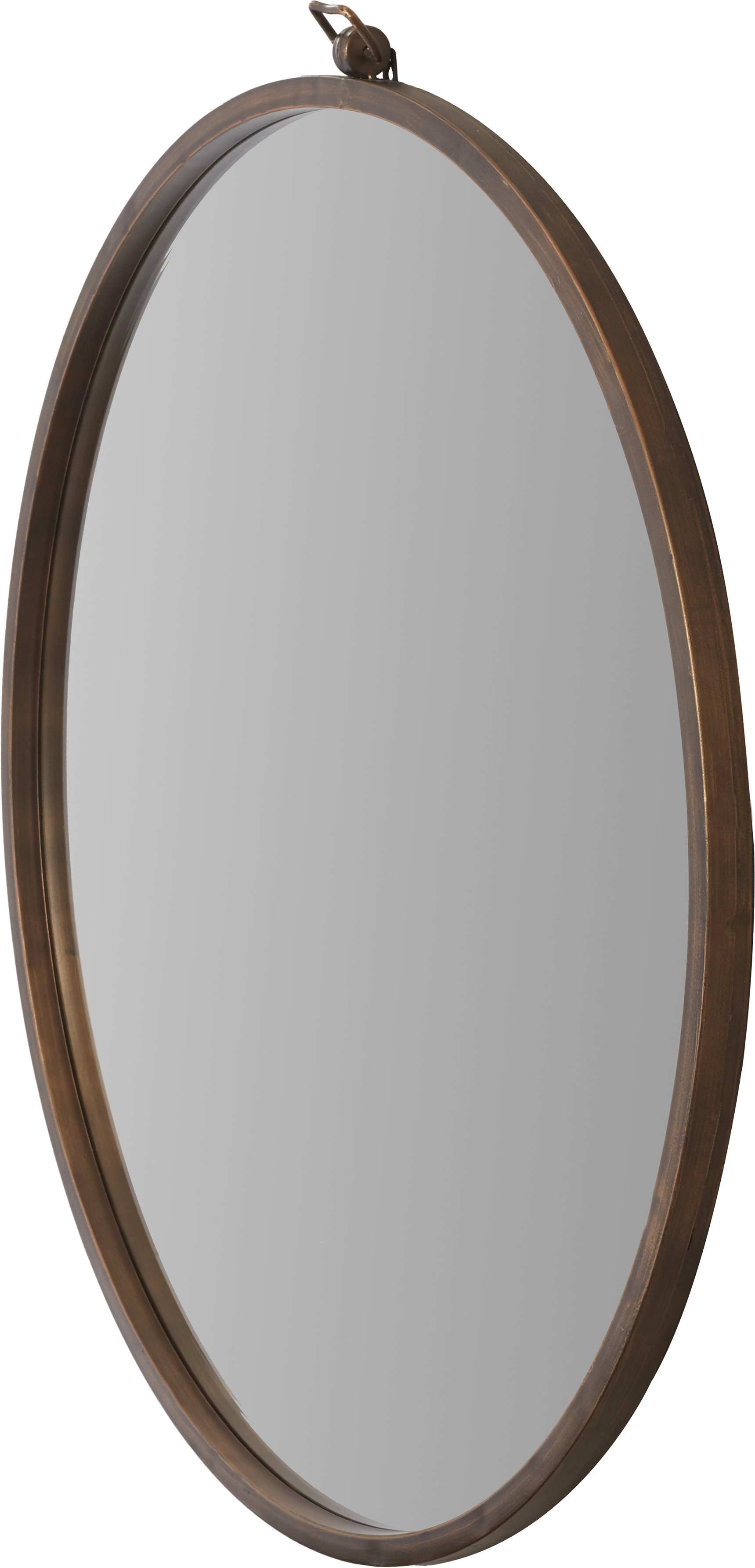 Current Langley Street Minerva Accent Mirror In Vassallo Beaded Bronze Beveled Wall Mirrors (View 4 of 20)