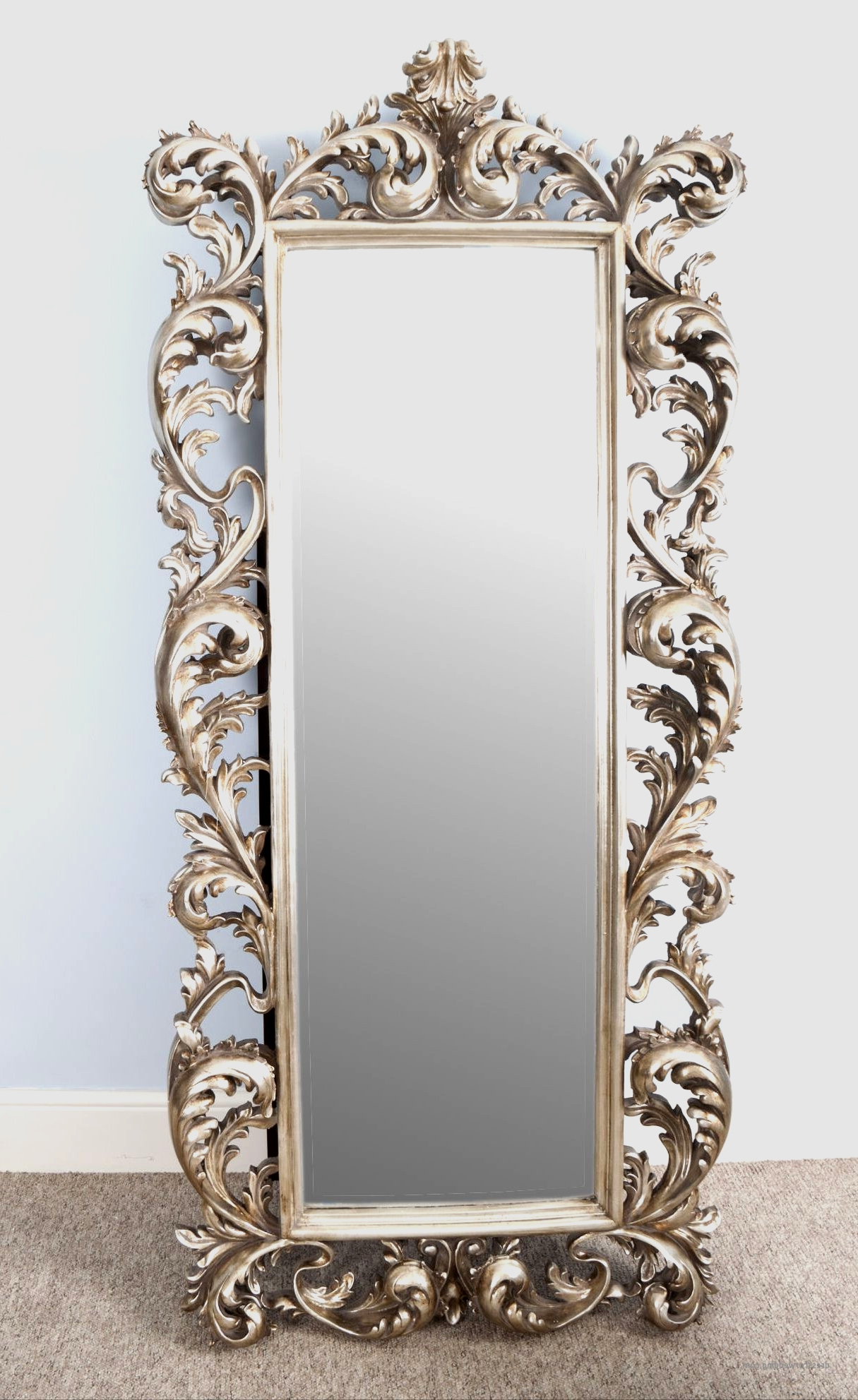 Current Large Fancy Wall Mirrors Unique Splendid White Framed Mirror With Regard To Large Fancy Wall Mirrors (View 11 of 20)