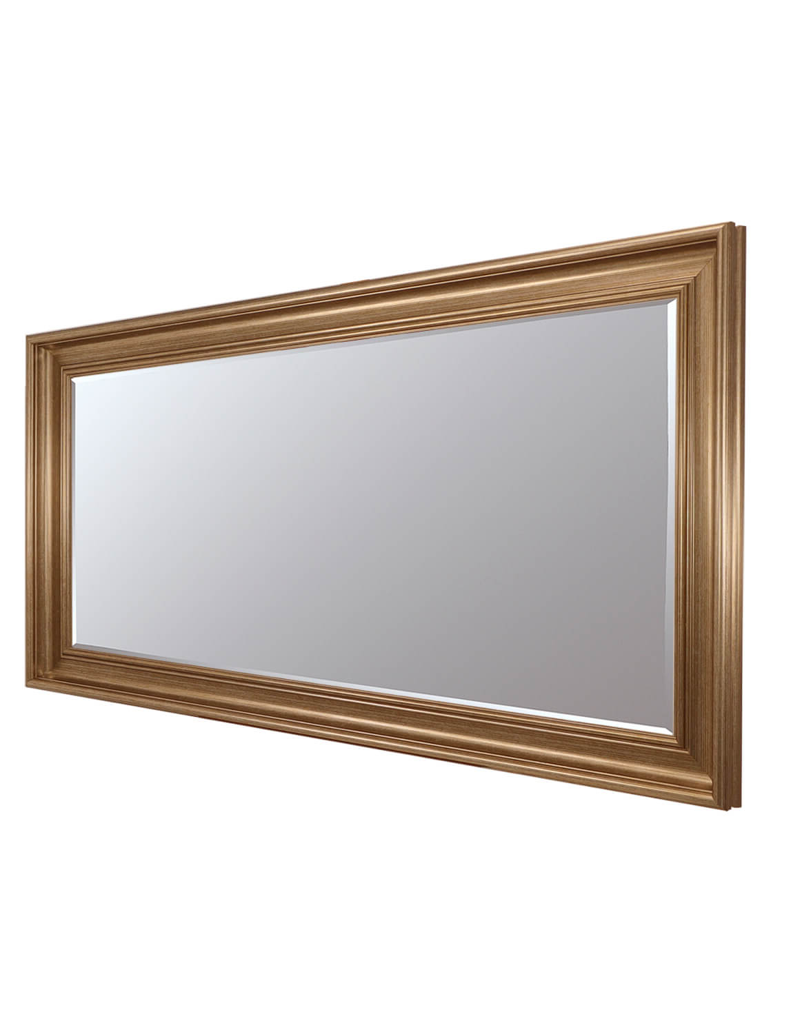 Current Long Silver Wall Mirrors Pertaining To Luxe Gold 77x138cm Long Wall Mirror (View 6 of 20)