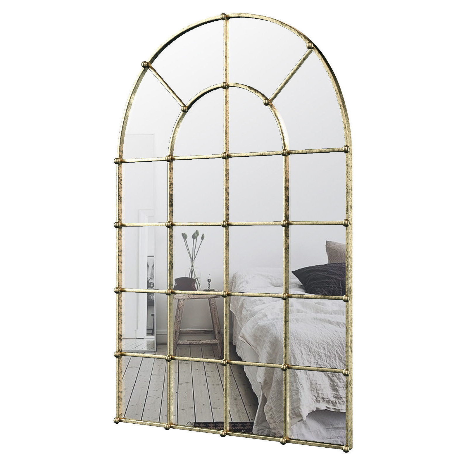 Current Metal Arch Window Wall Mirror Oawy (View 1 of 20)