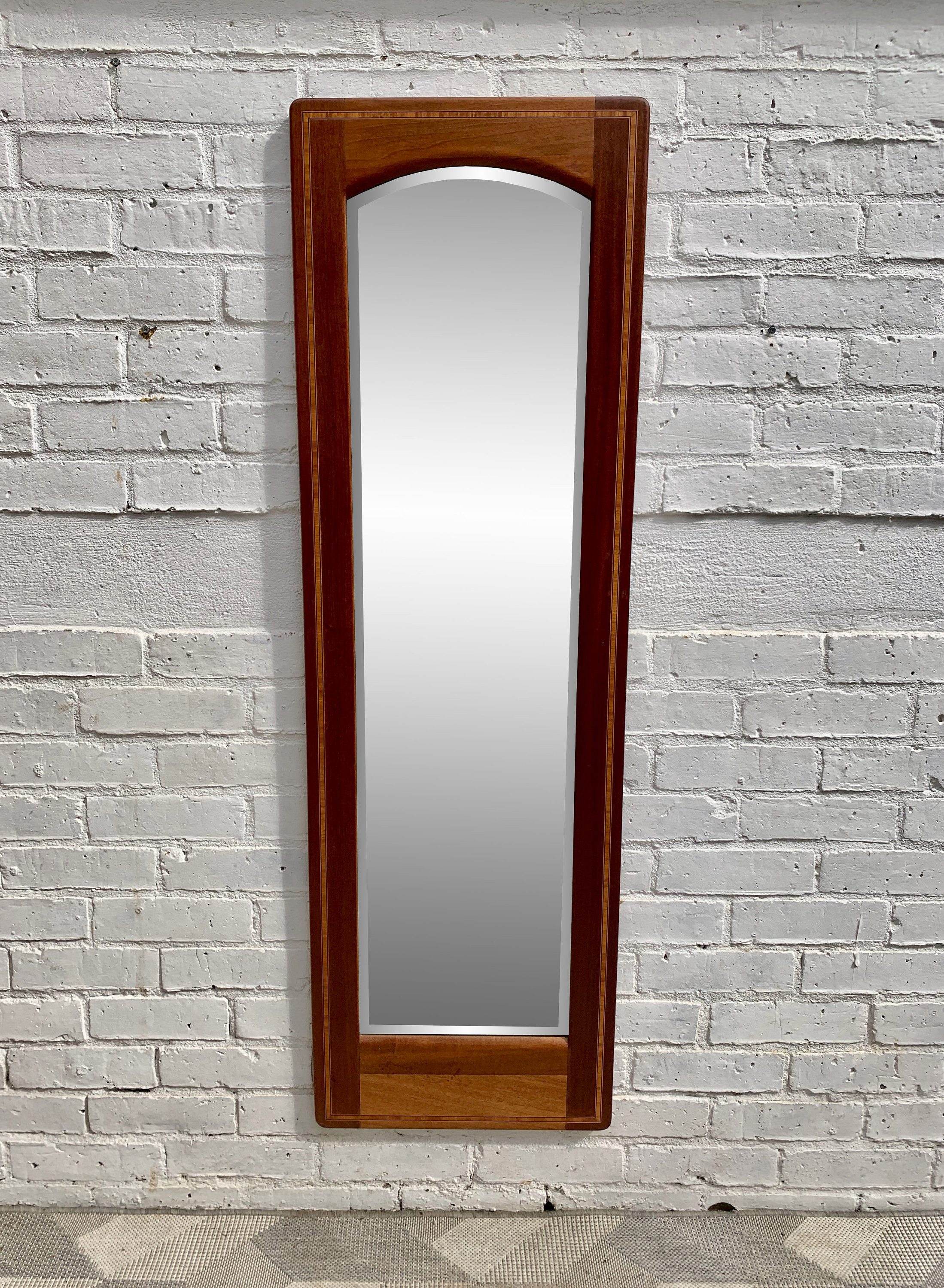 Current Mid Century Wall Mirrors With Regard To Vintage Mid Century Wall Mirror Teak Inlayed #d (View 5 of 20)