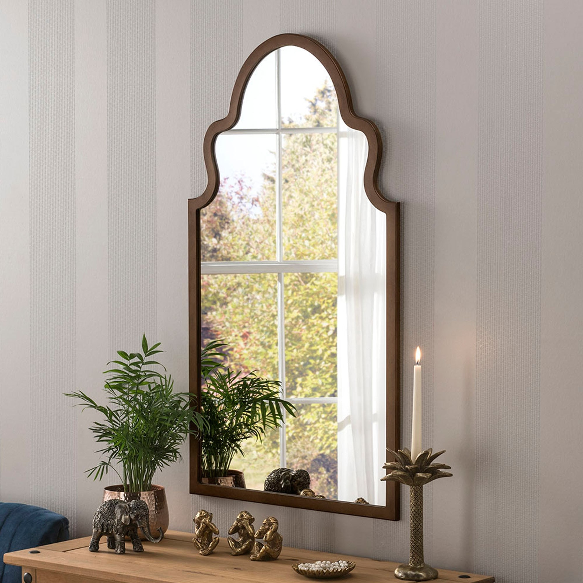 Current Morocco Bronze Contemporary Wall Mirror Intended For Moroccan Wall Mirrors (View 15 of 20)