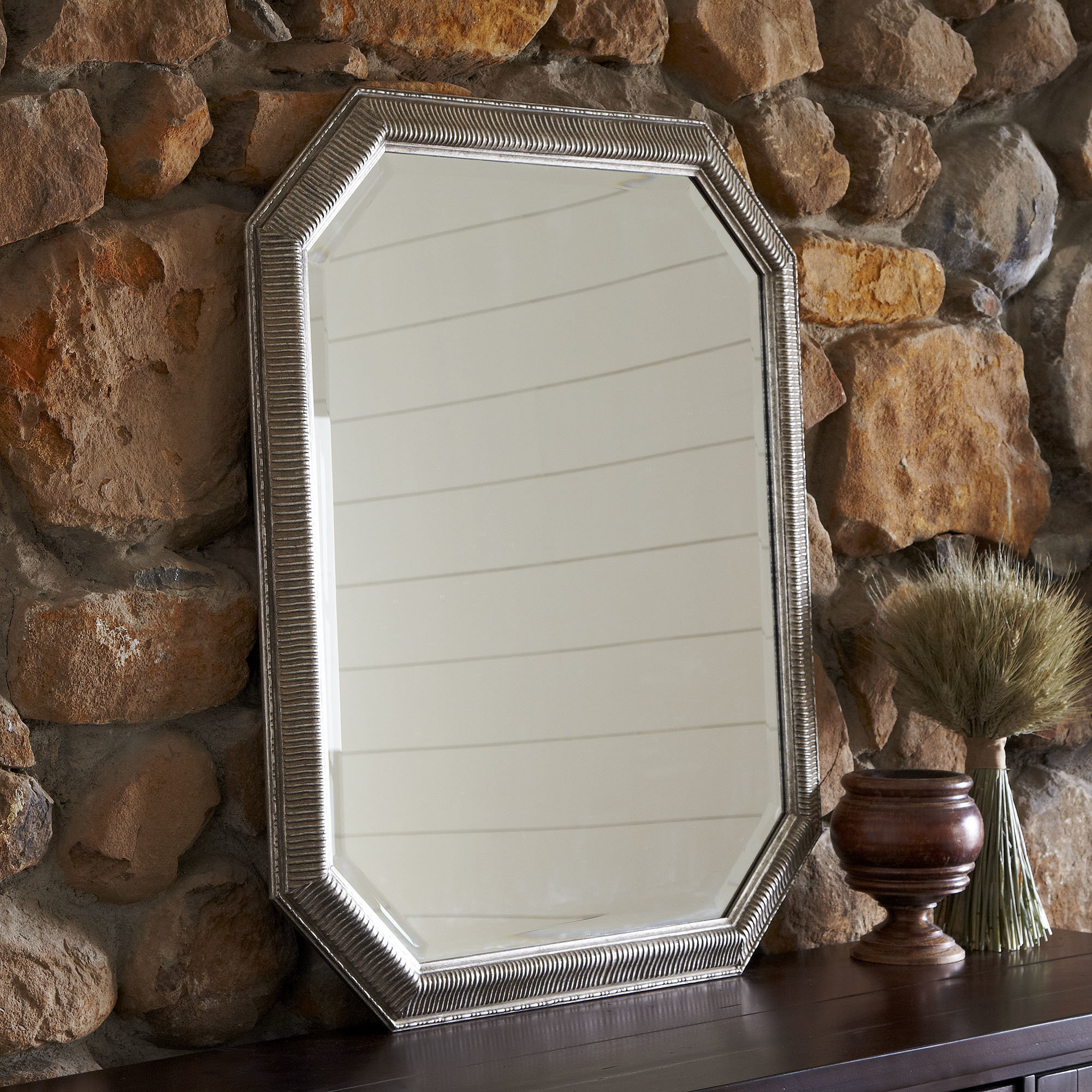 Current Patrizia Traditional Accent Mirror With Regard To Reba Accent Wall Mirrors (View 12 of 20)