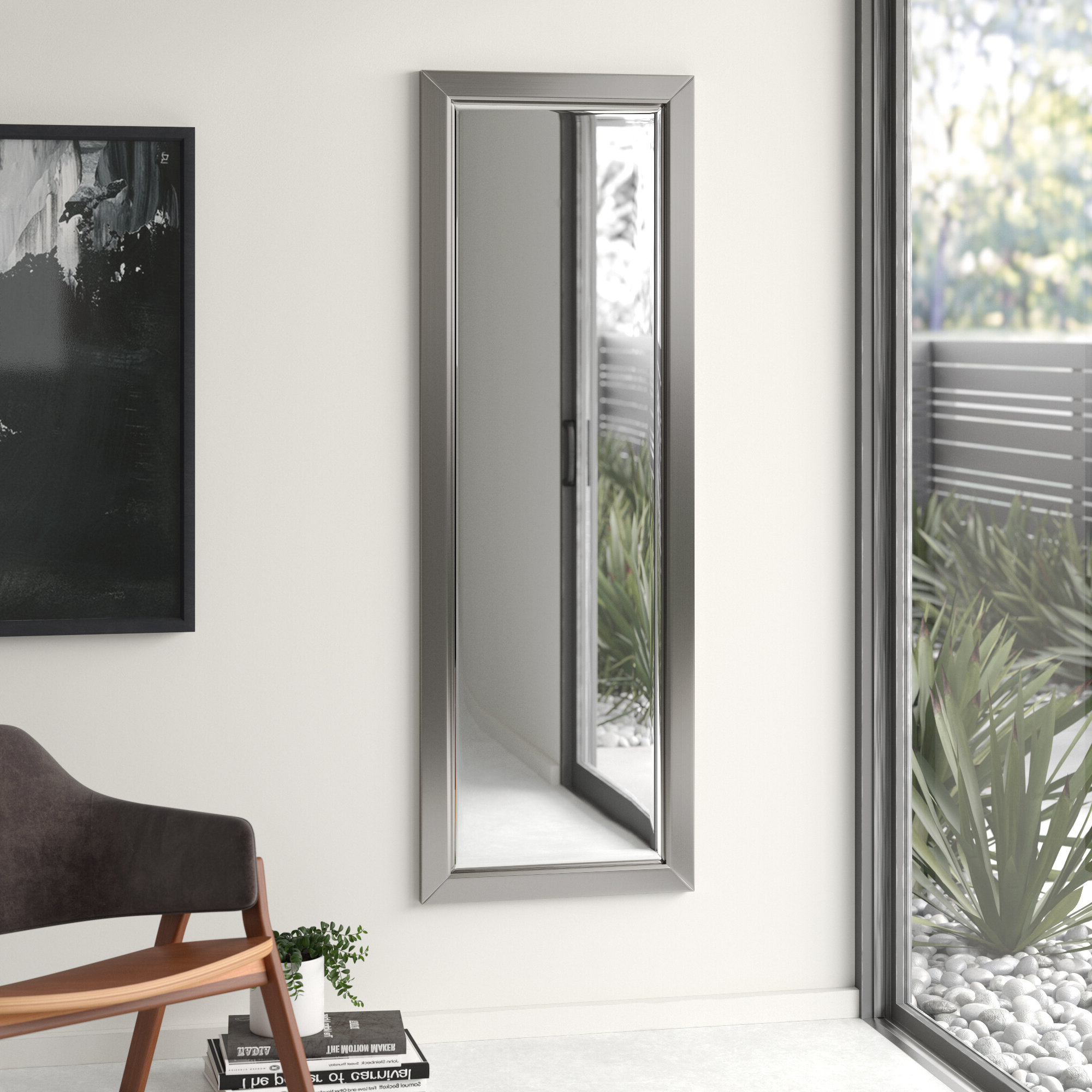 Current Sartain Modern & Contemporary Wall Mirrors Intended For Edge Minimal Modern & Contemporary Full Length Body Mirror (View 4 of 20)