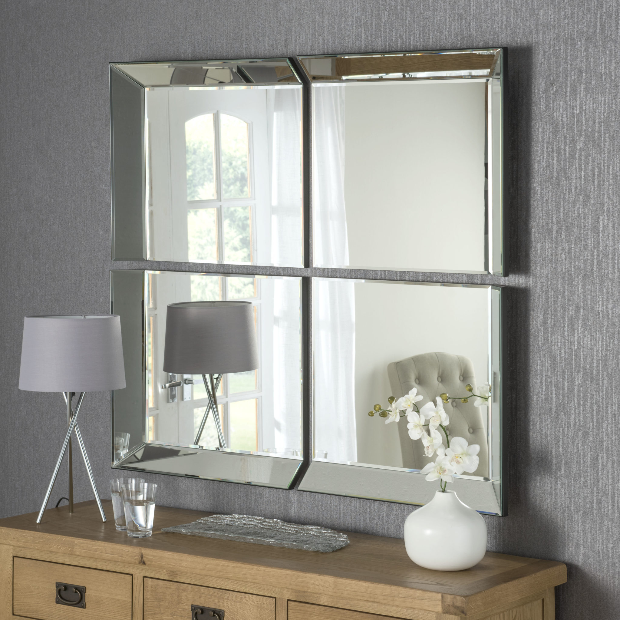 Current Stunning Wall Mirrors In Victoria 4 Section Window Handmade Bevelled Over Mantle Wall Mirrors (View 2 of 20)