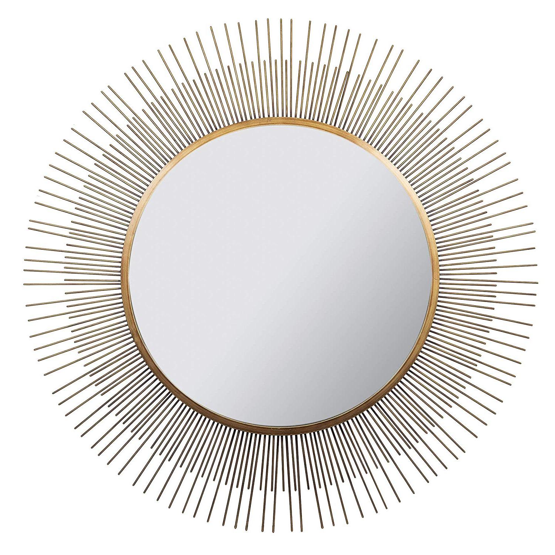"Current Sunburst Wall Mirrors Within Amazon: Everly Hart Collection 36"" Gold Sunburst Wall Mirrors (View 9 of 20)"
