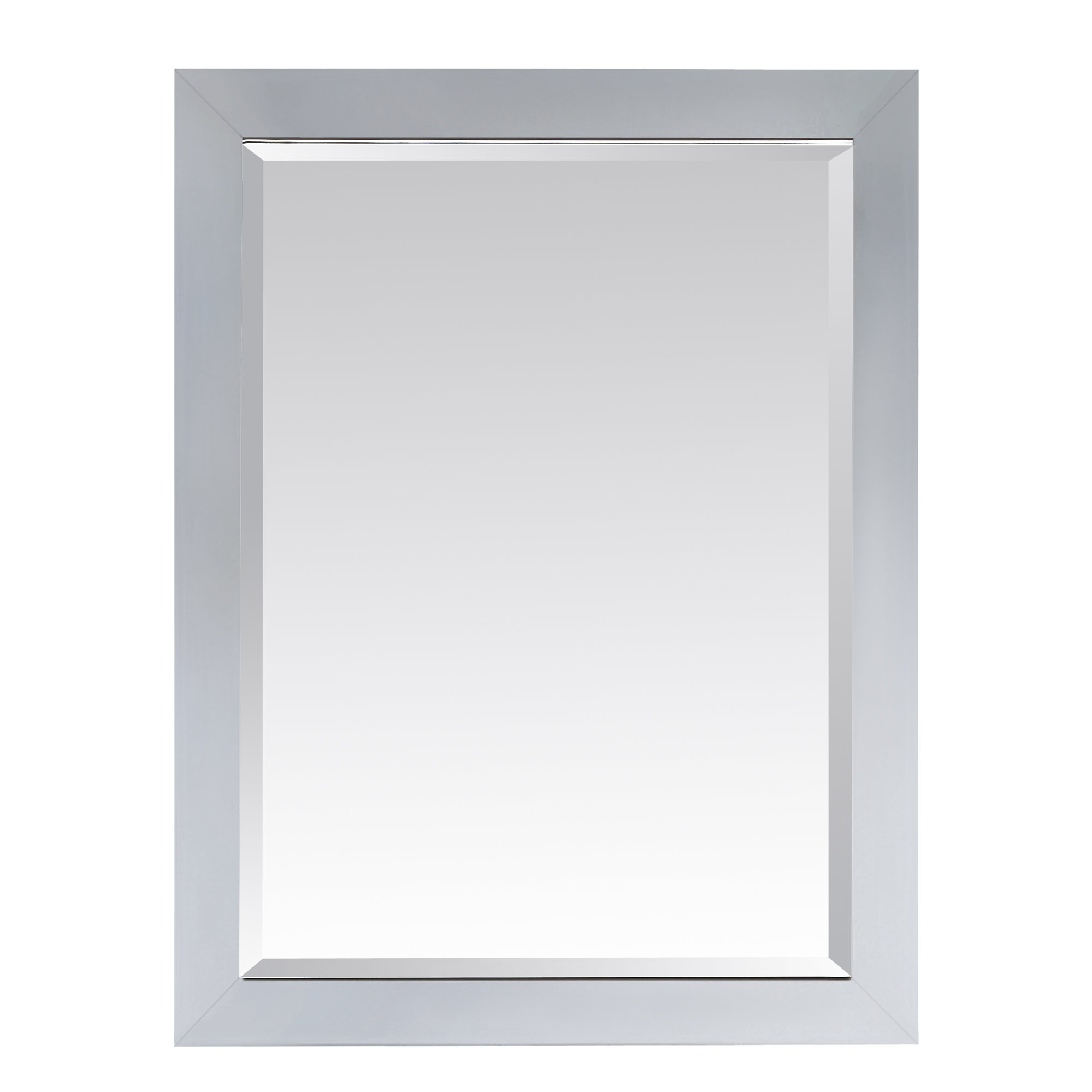 "Current Tetbury Frameless Tri Bevel Wall Mirrors Regarding Poyen 28"" Rectangle Beveled Wall Mirror (View 3 of 20)"